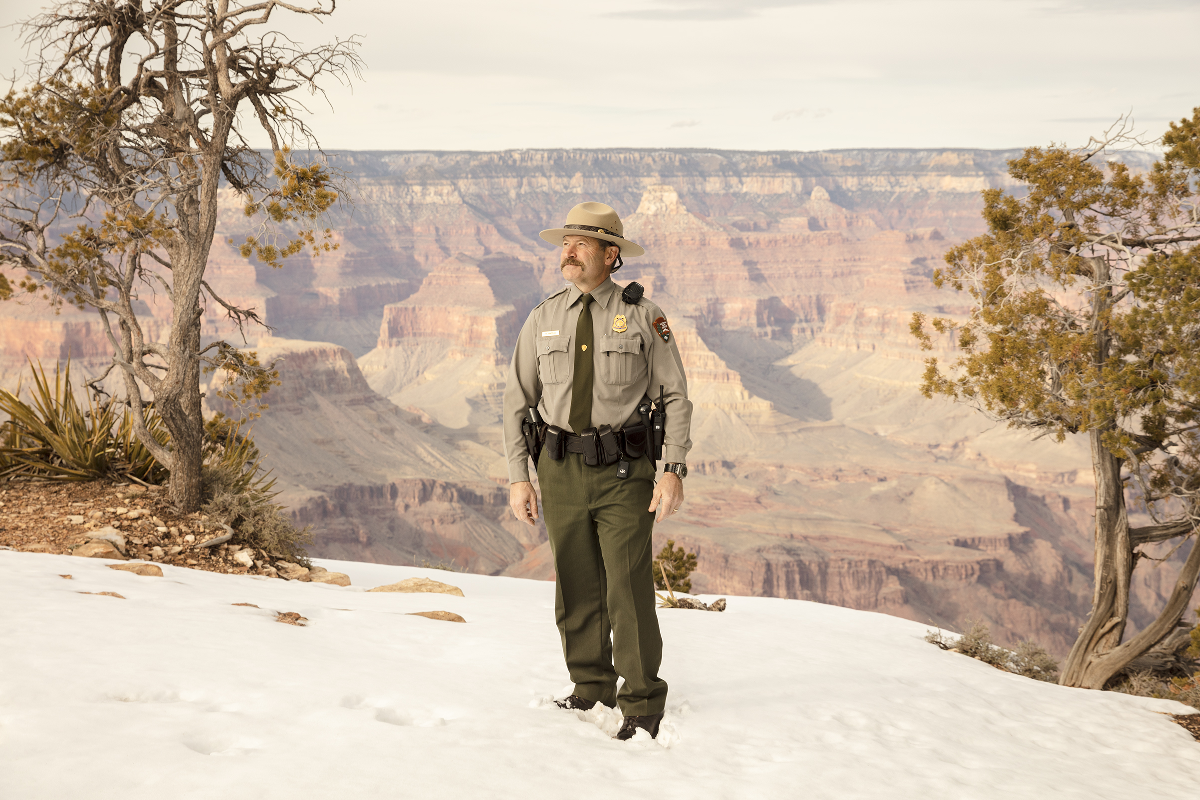 Matthew Vandzura, chief ranger at Grand Canyon National Park, poses for a portrait on March 1