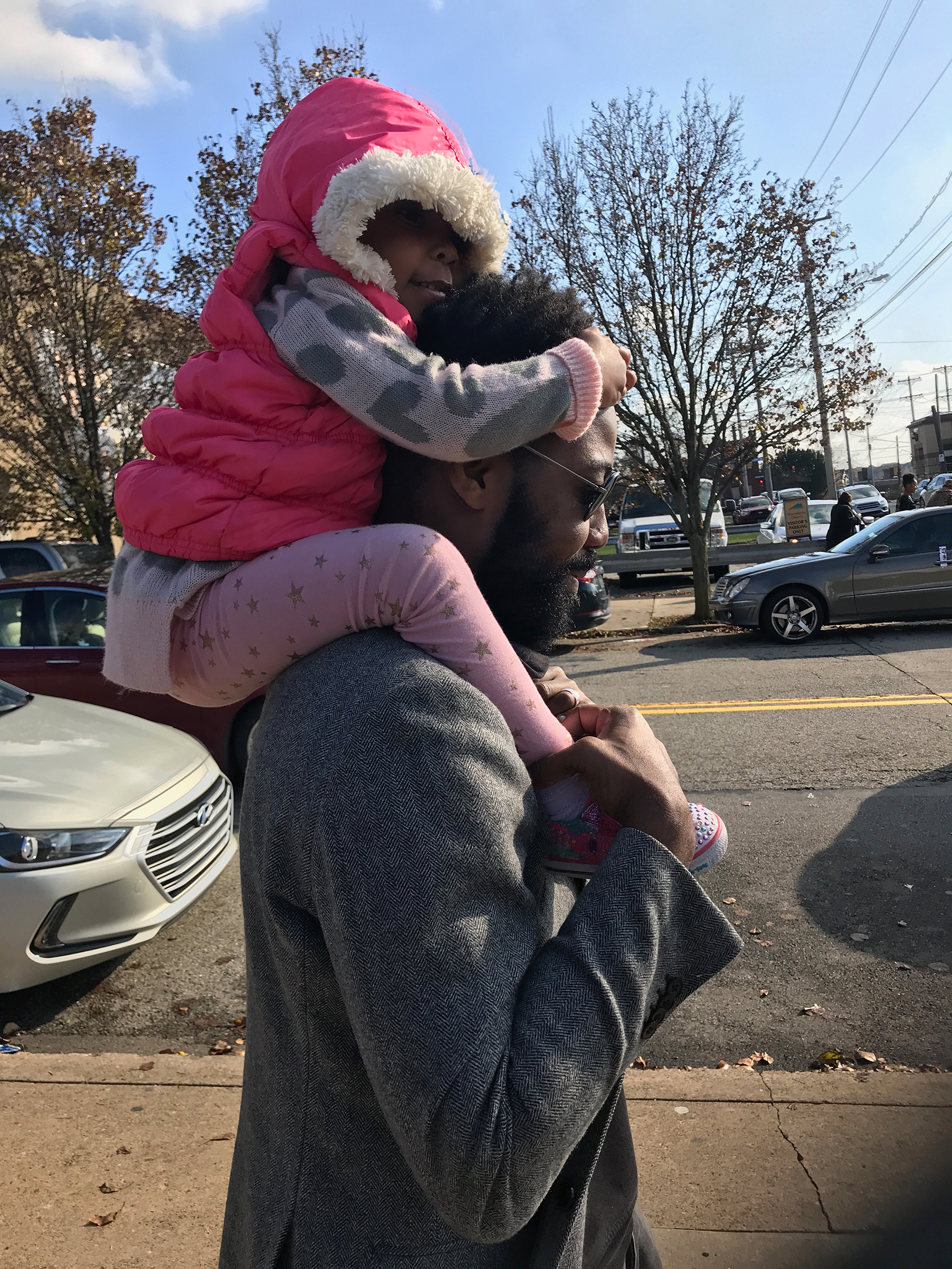 Damon Young and his daughter Zoe
