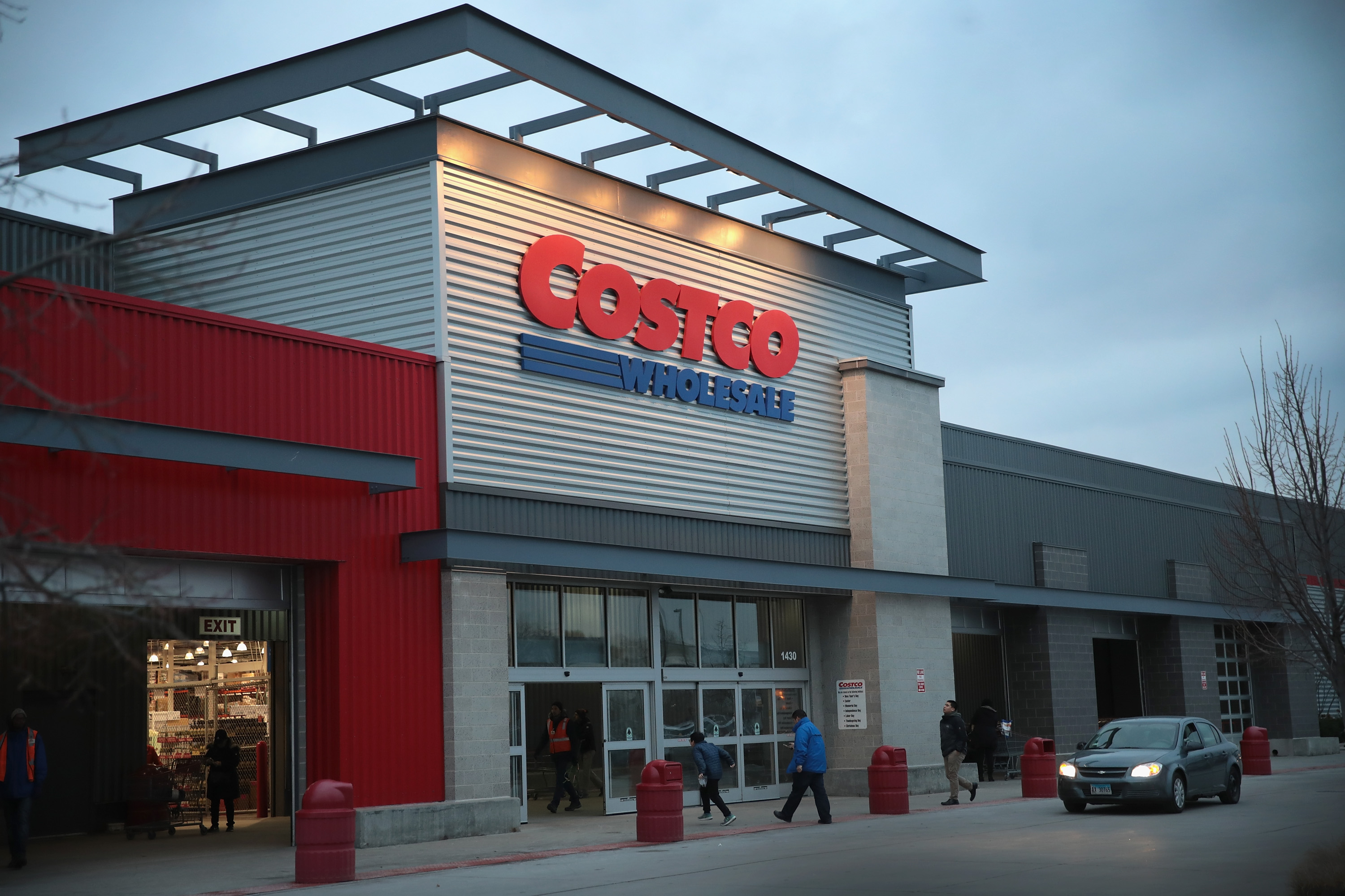 Customers shop at a Costco store on December 12, 2018 in Chicago, Illinois. Costco is expected to report its fiscal 1Q19 on December 13.