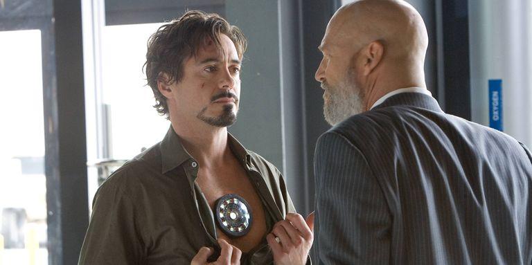 Robert Downey Jr. and Jeff Bridges in Iron Man