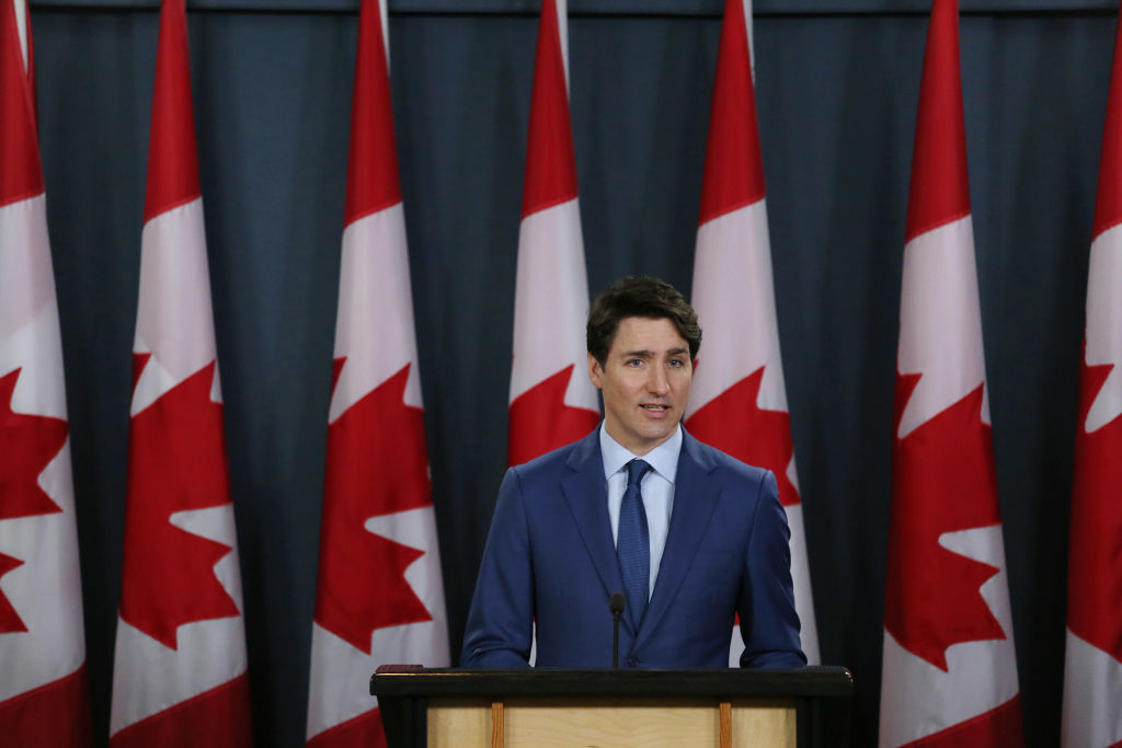 Canada's Prime Minister Justin Trudeau attends a news conference on Mar. 7, 2019 in Ottawa, Canada. Prime Minister Trudeau and top aides have been accused of meddling in a federal criminal investigation of SNC-Lavalin, a major Canadian engineering firm.