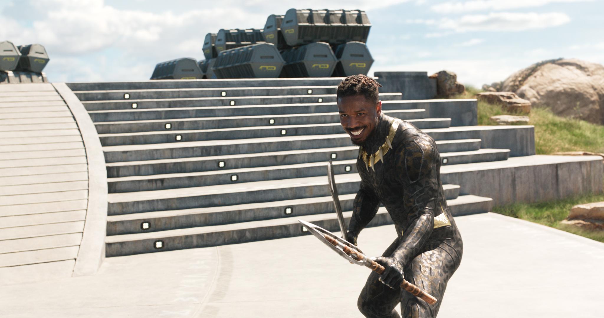 Erik Killmonger (Michael B. Jordan) in Black Panther