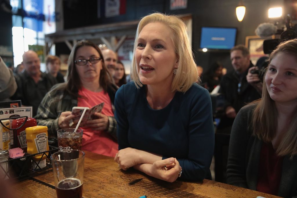 U.S. Senator Kirsten Gillibrand speaks to guests during a campaign stop at the Chrome Horse Saloon on February 18, 2019 in Cedar Rapids, Iowa. Gillibrand, who is seeking the 2020 Democratic nomination for president, made campaign stops in Cedar Rapids and Iowa City.