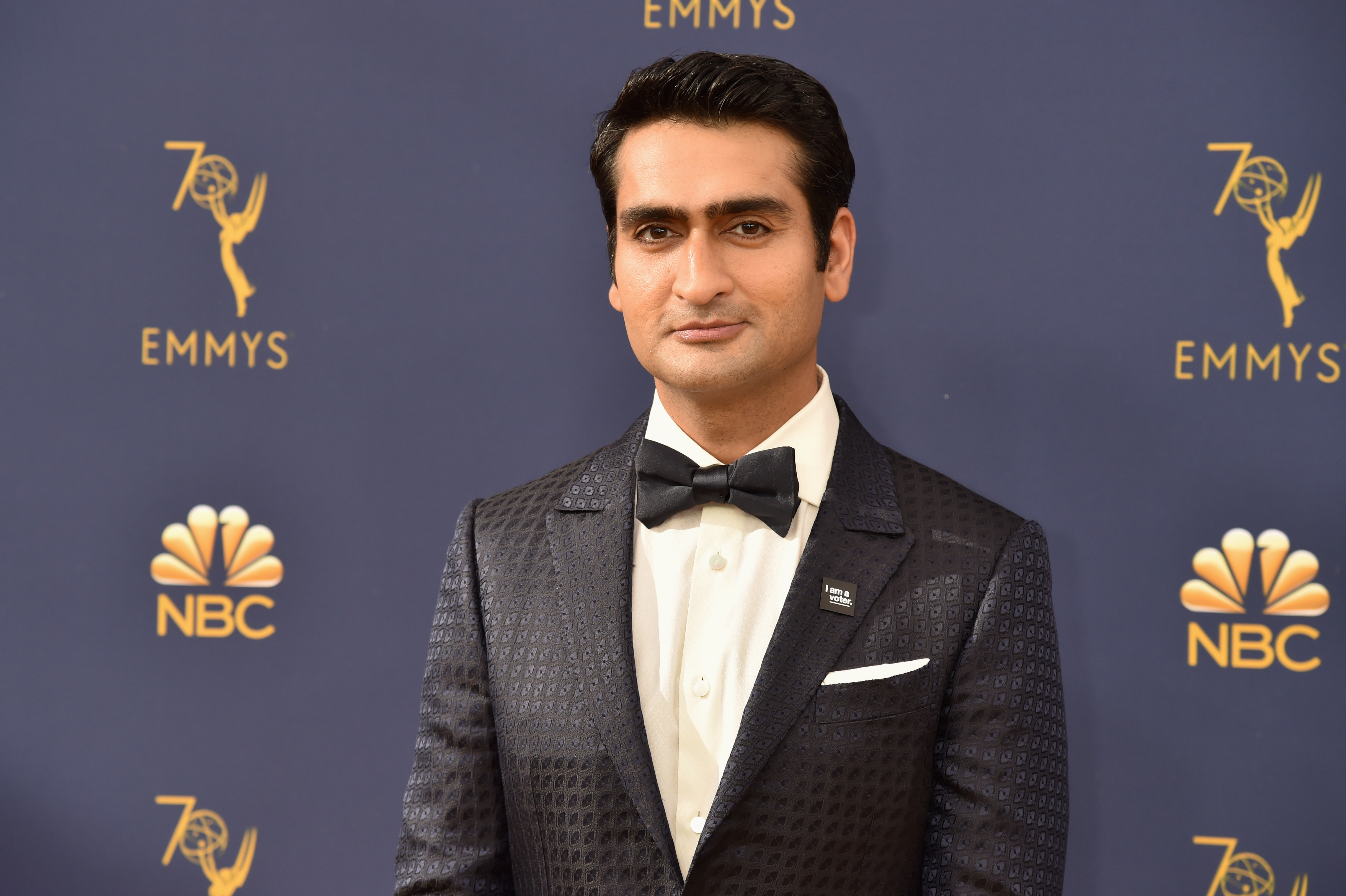 LOS ANGELES, CA - SEPTEMBER 17:  Kumail Nanjiani attends the 70th Emmy Awards at Microsoft Theater on September 17, 2018 in Los Angeles, California.  (Photo by Jeff Kravitz/FilmMagic)