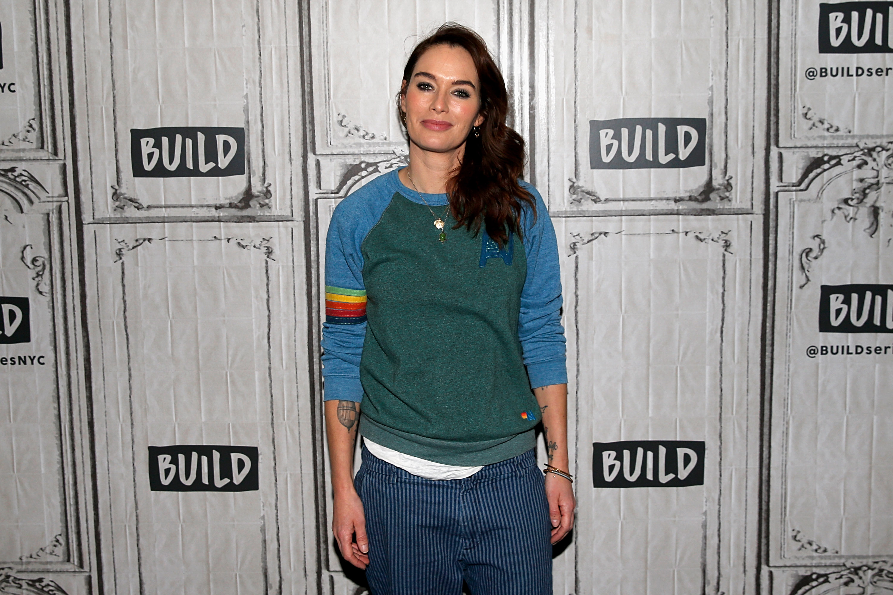 Lena Headey attends Build Series to discuss 'Fighting with My Family' at on February 11, 2019 in New York City. (Photo by Dominik Bindl/Getty Images)