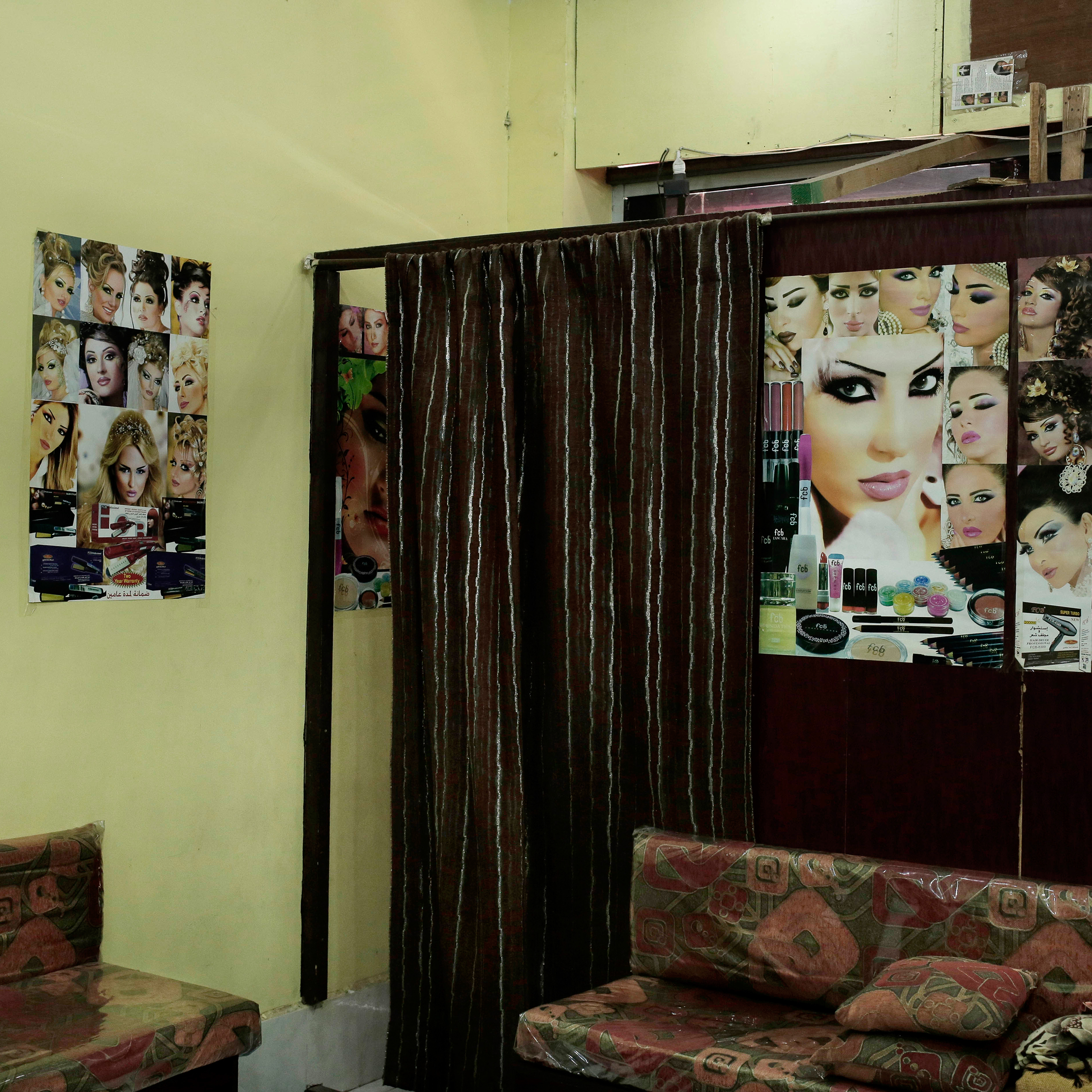 The interior of a women's hair salon in Aden on Feb. 18, 2018.