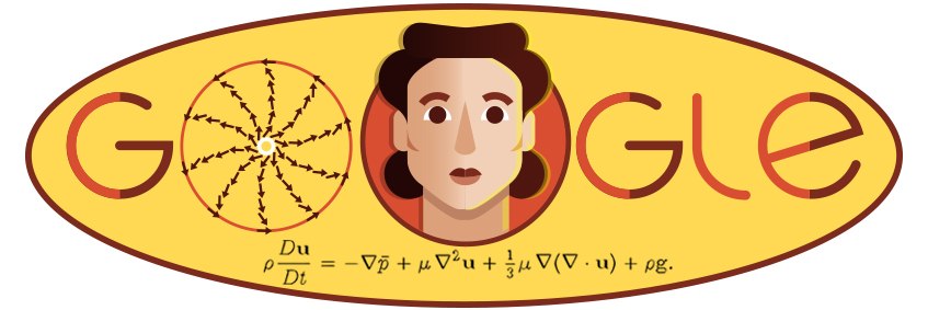 This is the Google Doodle for Olga Ladyzhenskaya. Her work had a lasting impact on a range of scientific fields, from weather forecasting to cardiovascular science and oceanography.