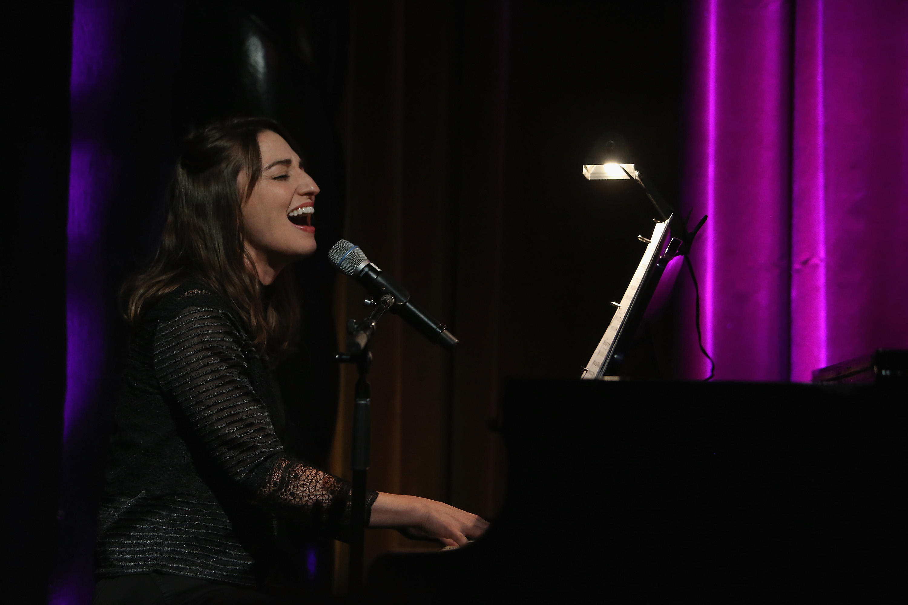 NEW YORK, NY - OCTOBER 15:  Sara Bareilles performs when she attends the Brooklyn Children's Theatre Presents Brooklyn on Broadway Gala at The Edison Ballroom on October 15, 2018 in New York City.  (Photo by Al Pereira/Getty Images)