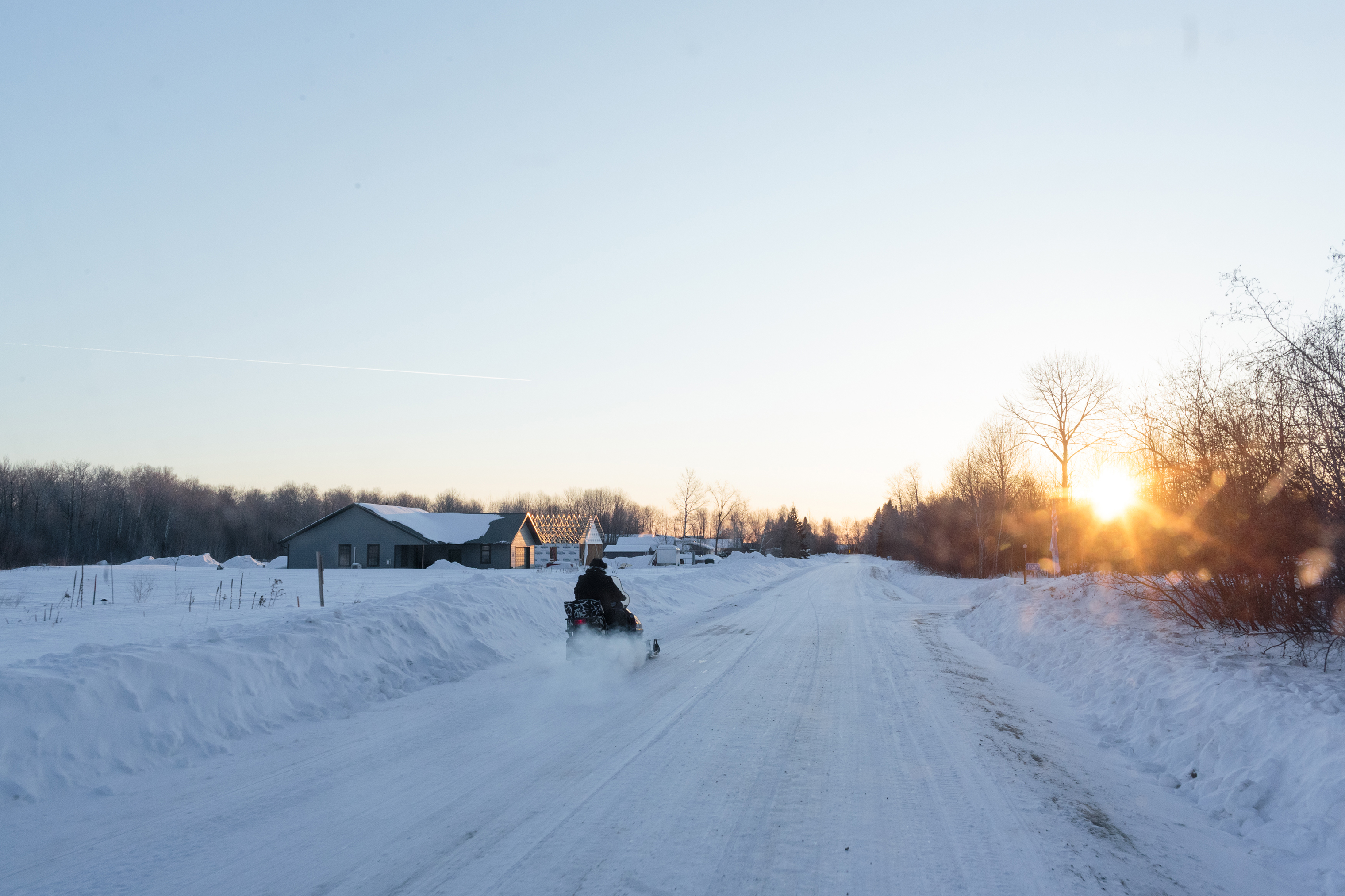 Linda LaMie commutes to school at 6:30 in the morning, in -20 degree weather, and has been the teacher at the one room schoolhouse in Angle Inlet for over thirty years.