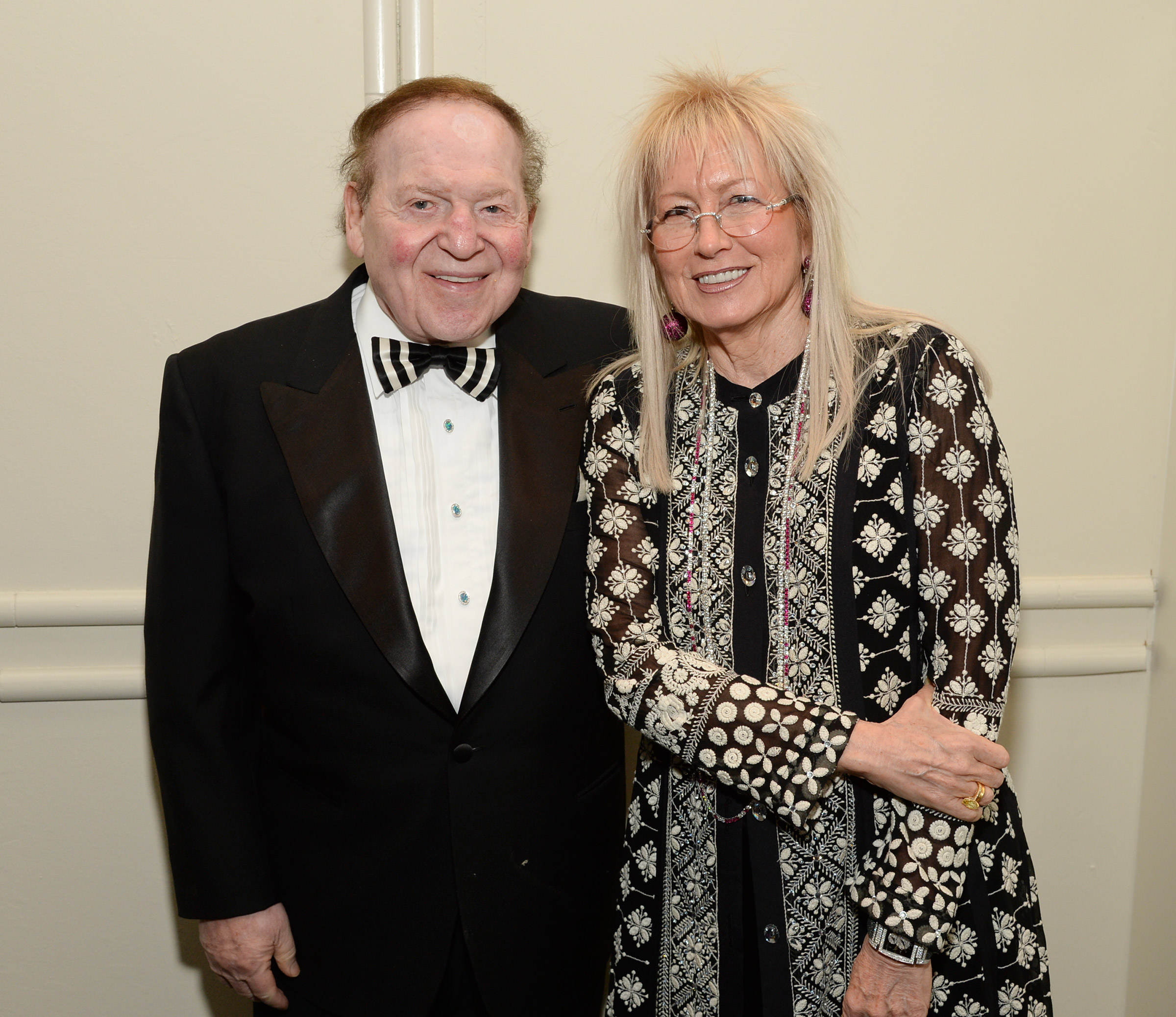 Sheldon Adelson and Dr. Miriam Adelson attend the John Wayne Cancer Institute Auxiliary's 29th Annual Odyssey Ball on April 5, 2014, in Beverly Hills.