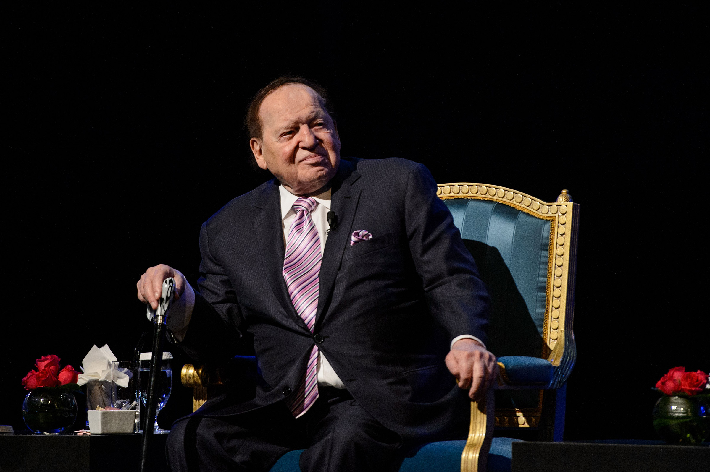 Chairman and chief executive officer of the Las Vegas Sands Corporation Sheldon Adelson attends a press conference in Macau, on Sept. 13, 2016.