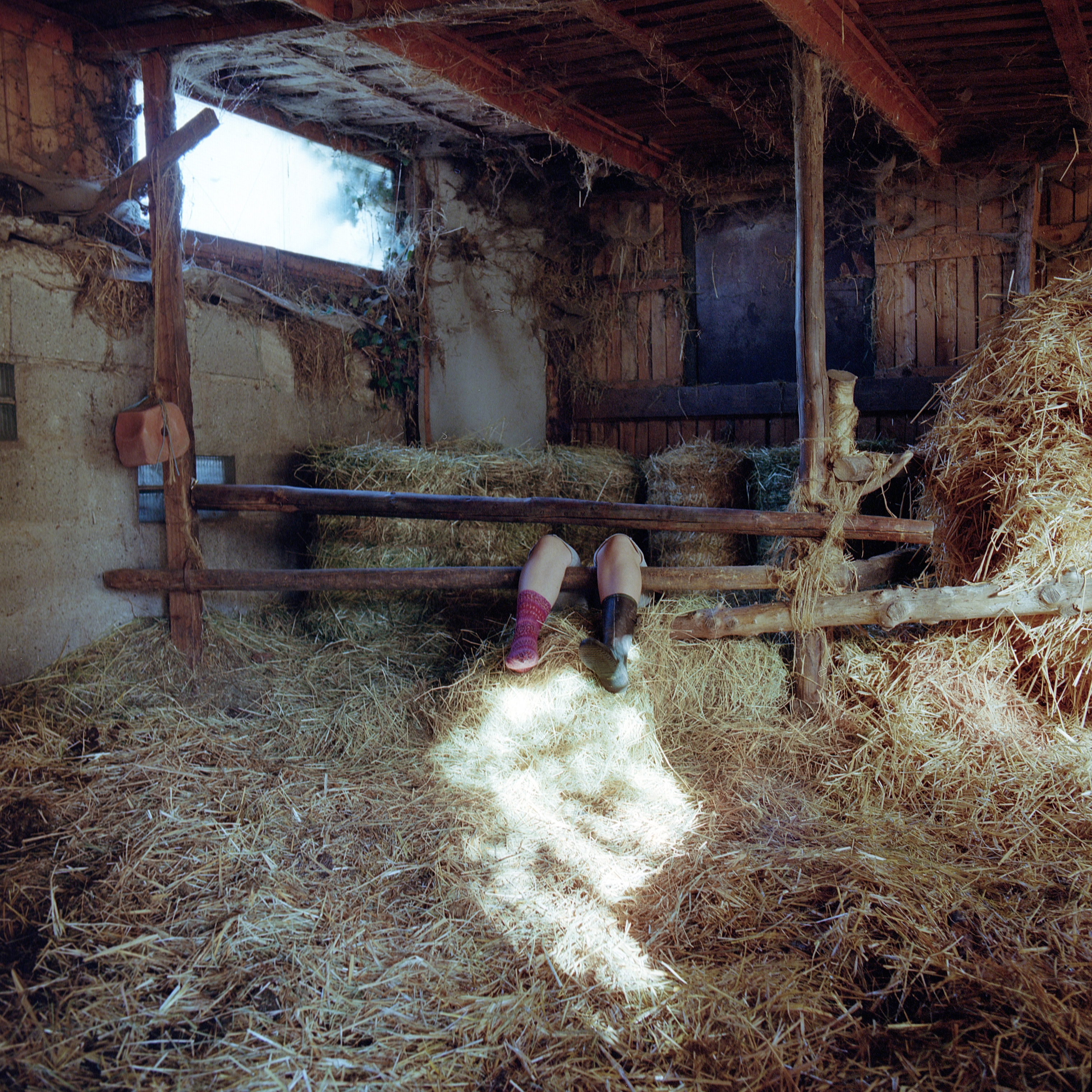 Sofie in the barn, Ellenstedt, Germany, Summer 2018