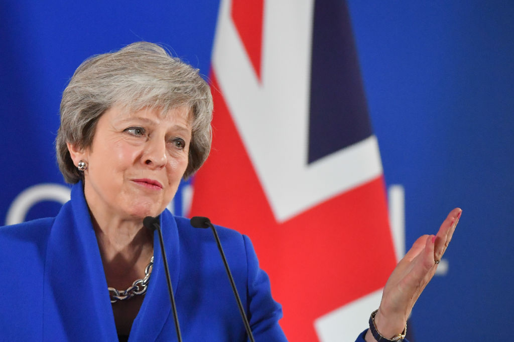 Britain's Prime Minister Theresa May gives a press conference after a special meeting of the European Council to endorse the draft Brexit withdrawal agreement and to approve the draft political declaration on future EU-UK relations on November 25, 2018 in Brussels.