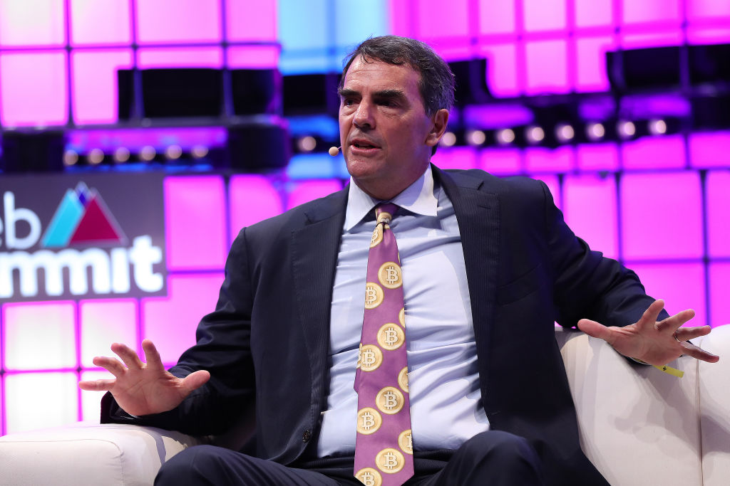 Draper Associates Founder Tim Draper speaks during the Web Summit 2018 in Lisbon, Portugal on November 6, 2018.