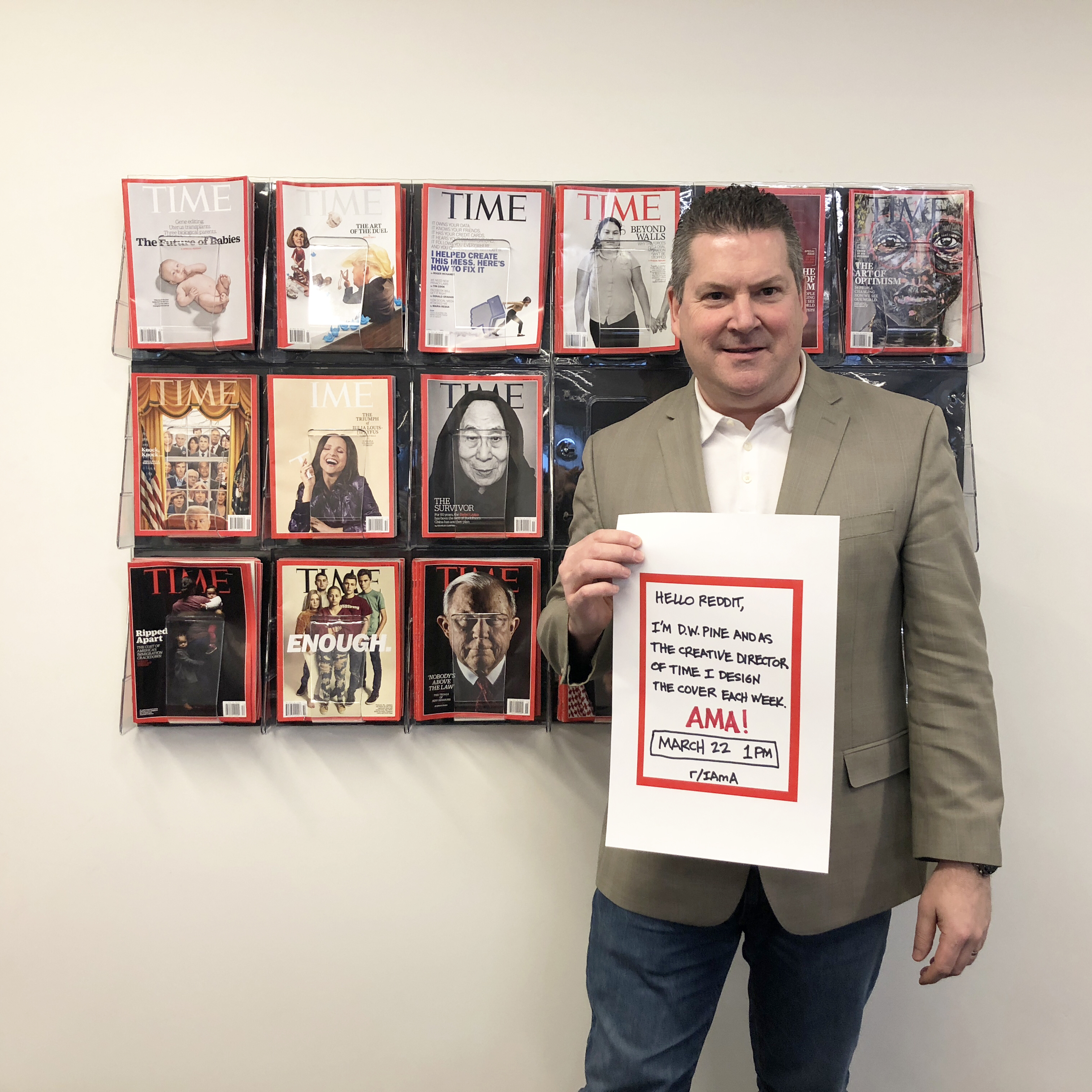 TIME Creative Director D.W. Pine at the TIME Magazine office in New York, NY.