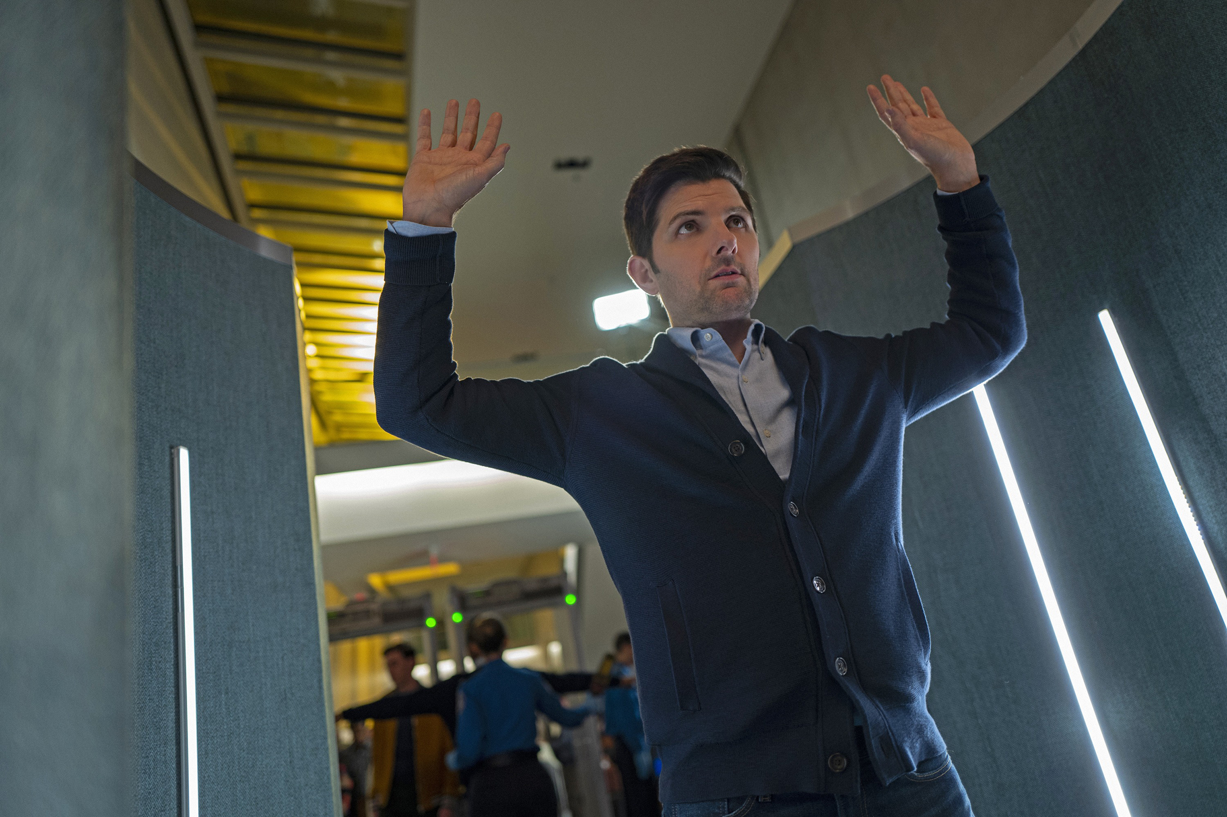 Adam Scott's journalist struggles to discern what's real and what's not