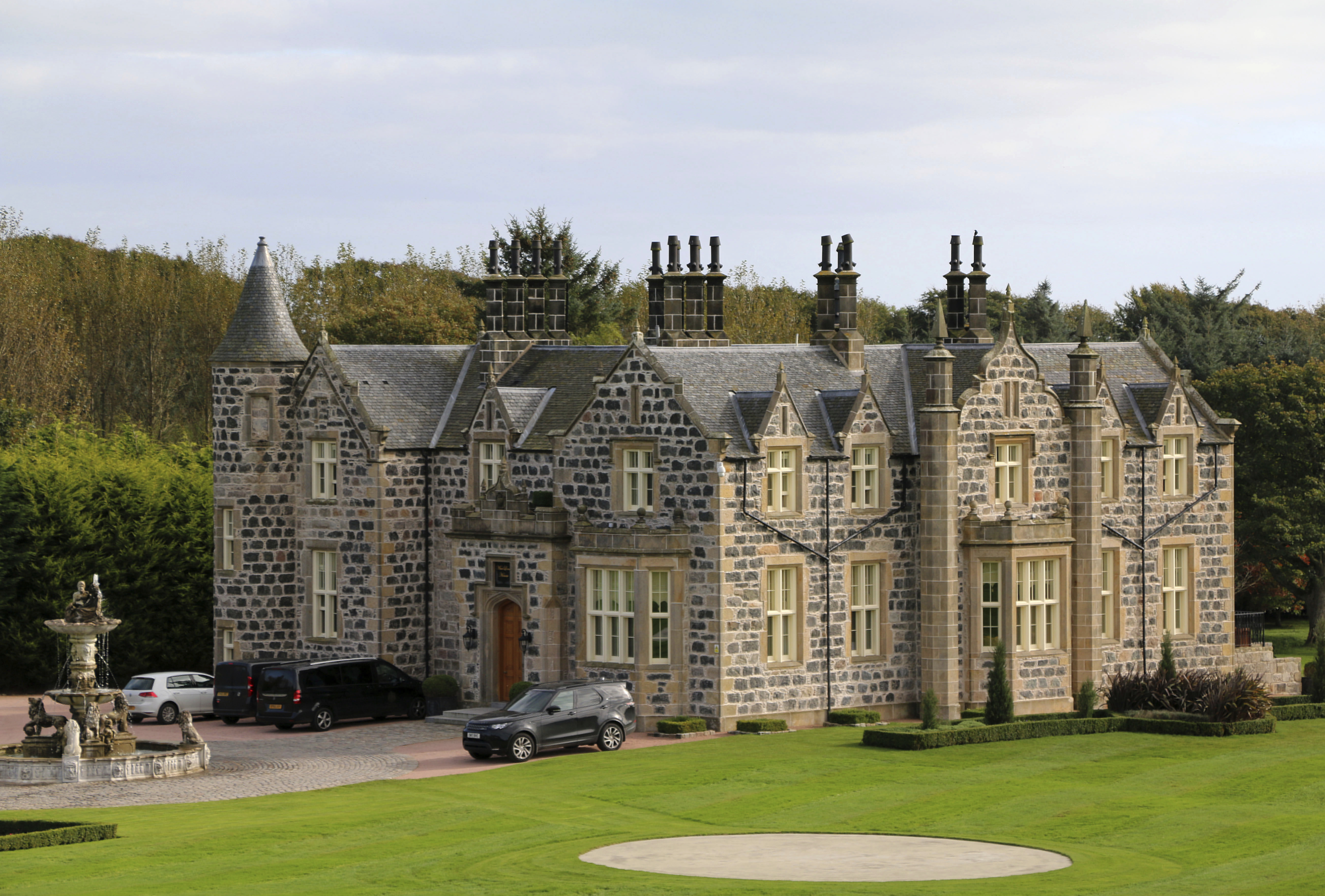 A view of MacLeod House, a sixteen room boutique hotel, at the Trump International golf course on Oct. 6, 2017 in Balmedie, Scotland. Trump took to Twitter to promote the golf course on Mar. 2, 2019 as the world's  greatest  and  furthers U.K. relationship.