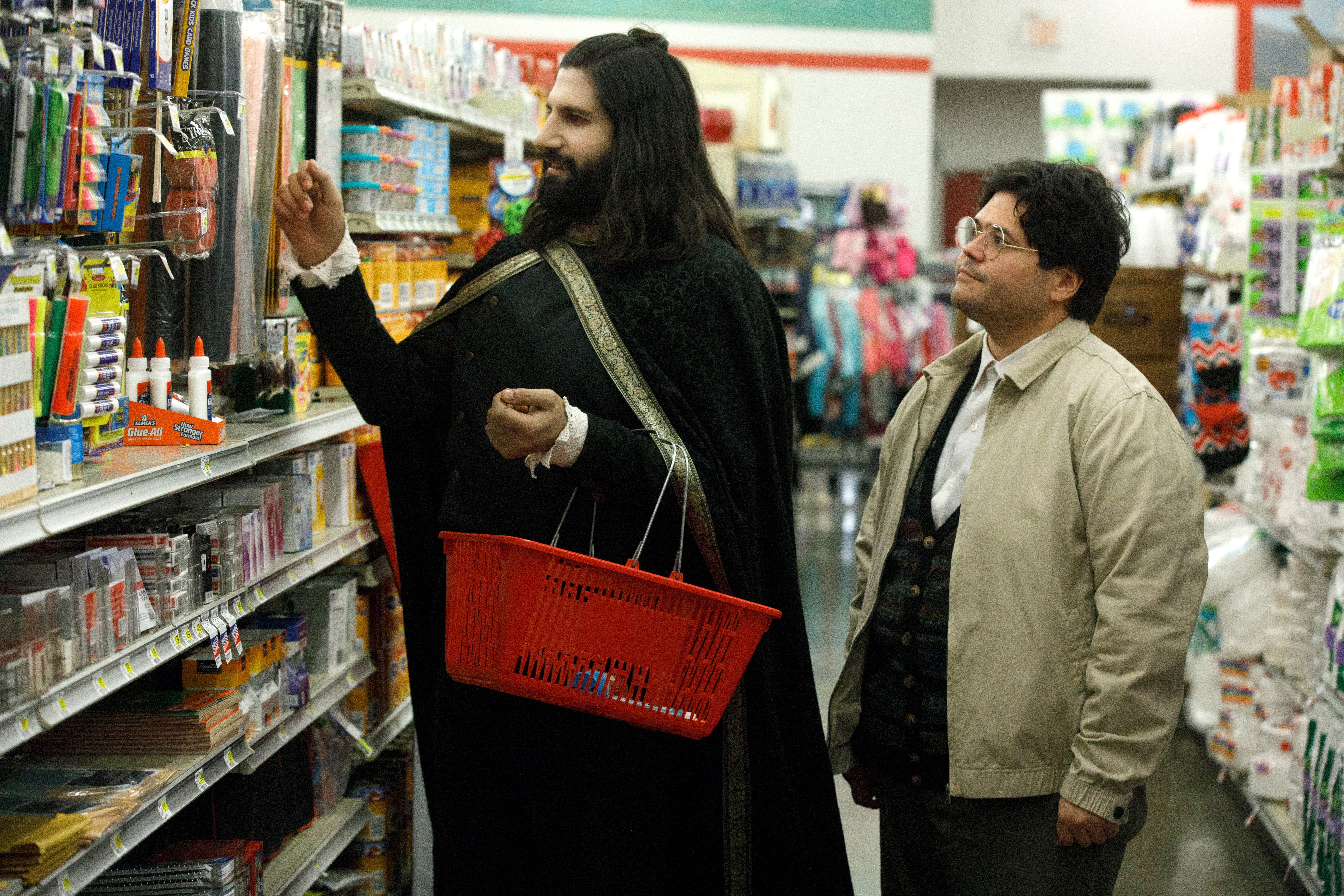 Kayvan Novak (left) and Harvey Guillén in 'What We Do in the Shadows'