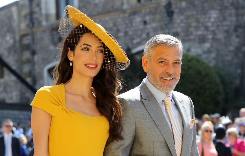 Amal Clooney and US actor George Clooney arrive for the wedding ceremony of Britain's Prince Harry, Duke of Sussex and US actress Meghan Markle at St George's Chapel, Windsor Castle, in Windsor, on May 19, 2018.