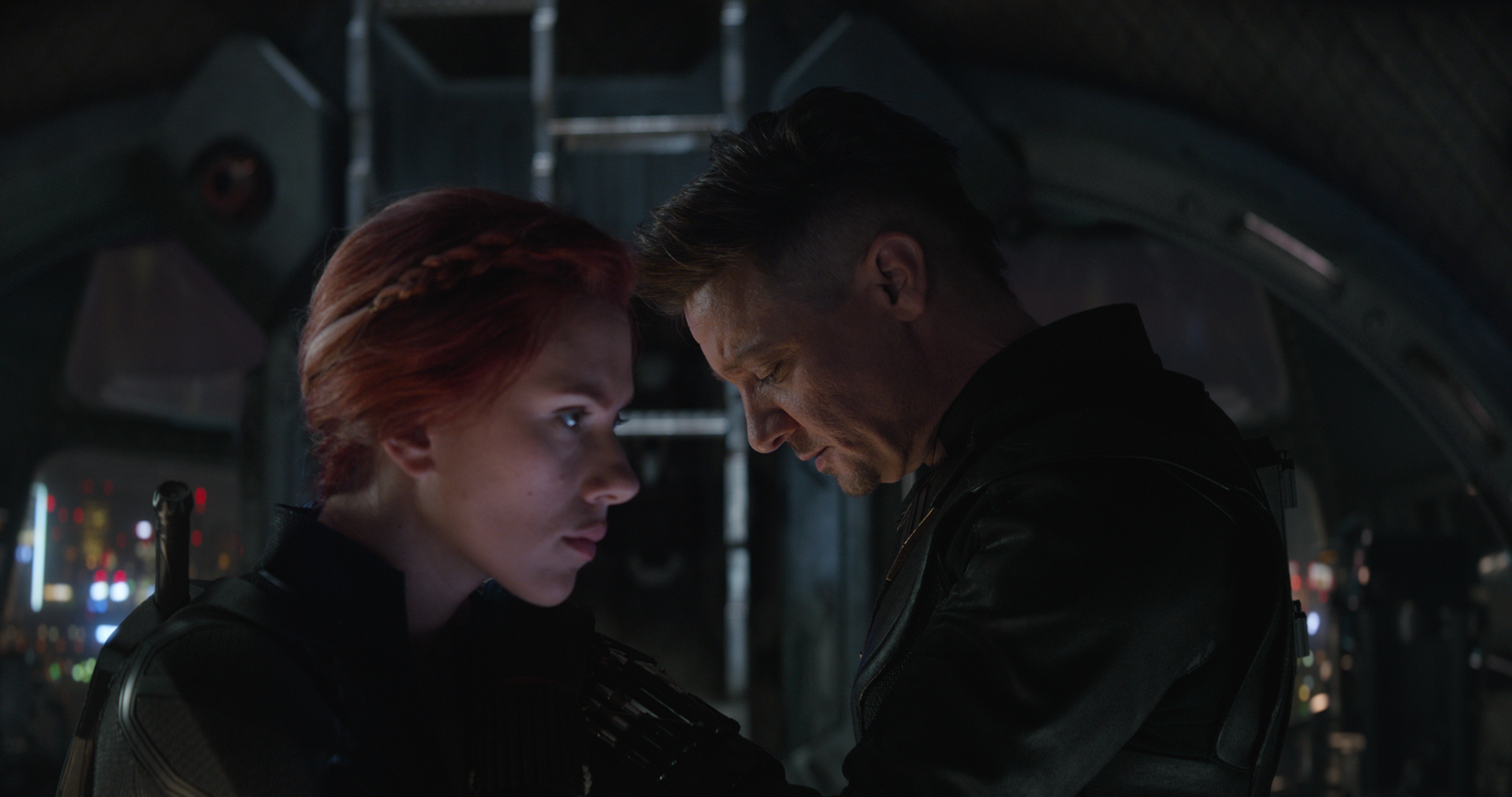 Still from 'Avengers: Endgame' featuring Black Widow (Scarlett Johansson) and Hawkeye (Jeremy Renner).