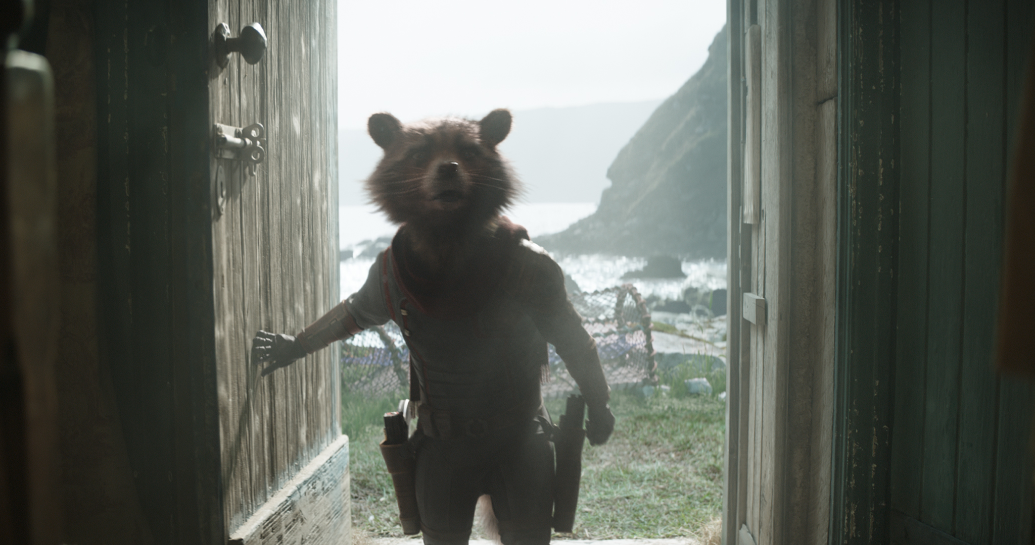 Still from 'Avengers: Endgame' featuring Rocket (voiced by Bradley Cooper).