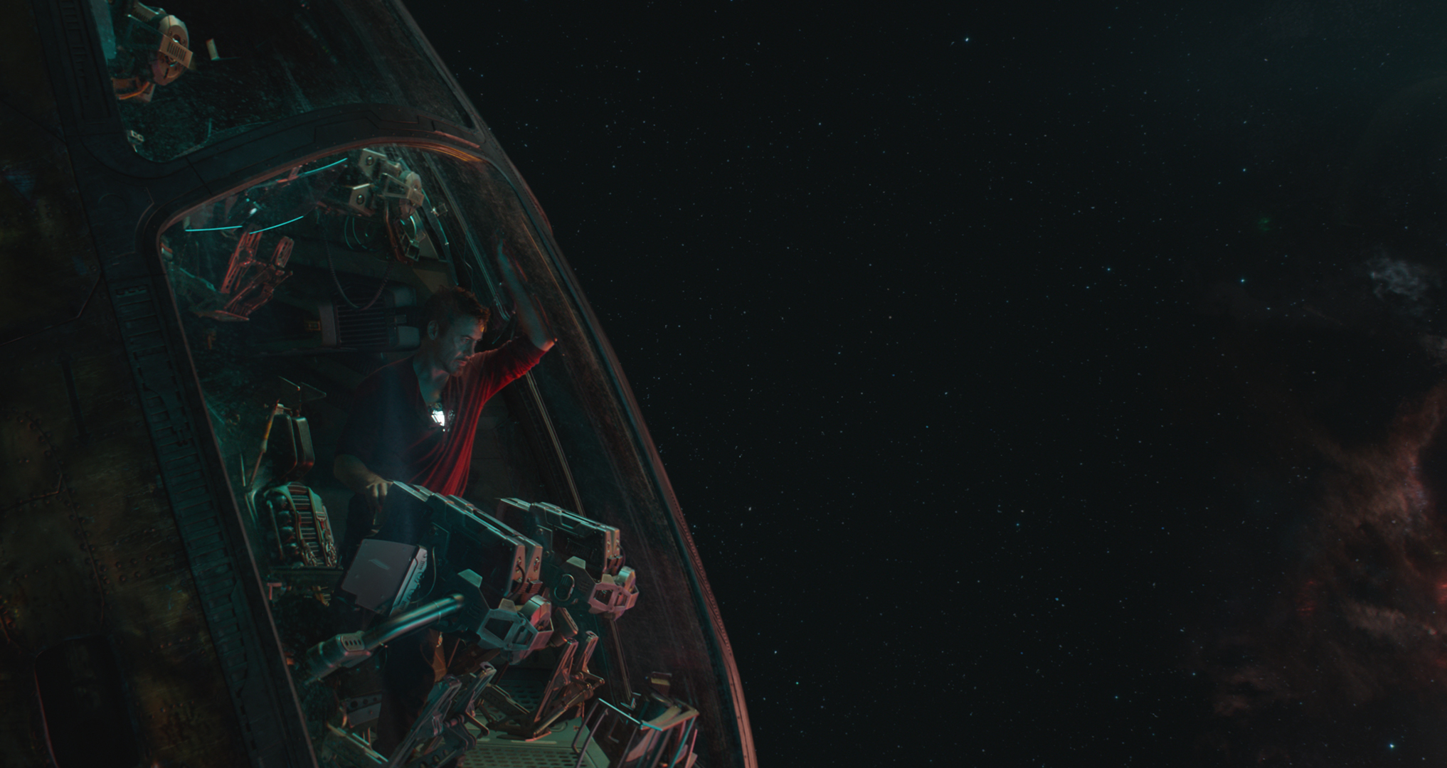 Still from 'Avengers: Endgame' featuring Tony Stark/Iron Man (Robert Downey Jr) in a spaceship.