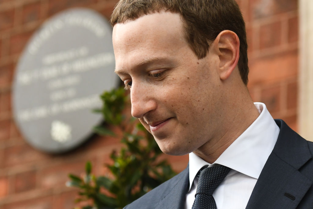 Facebook Chief Executive Officer and founder, Mark Zuckerberg, leaving the Merrion Hotel in Dublin on April 2, 2019. Bloomberg discovered that Amazon cloud database servers had publicized Facebook users' information.