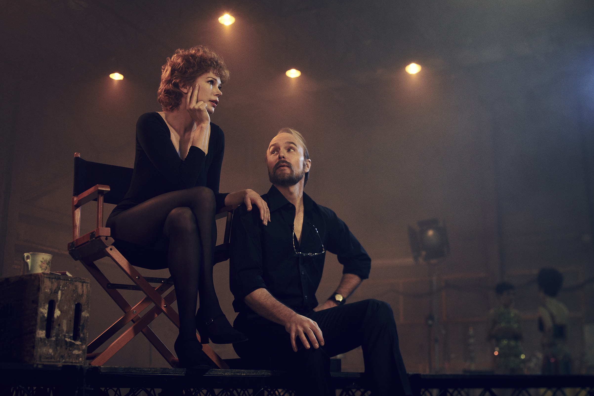 Verdon (Michelle Williams) and Fosse (Sam Rockwell) couldn't live with each other but couldn't work alone