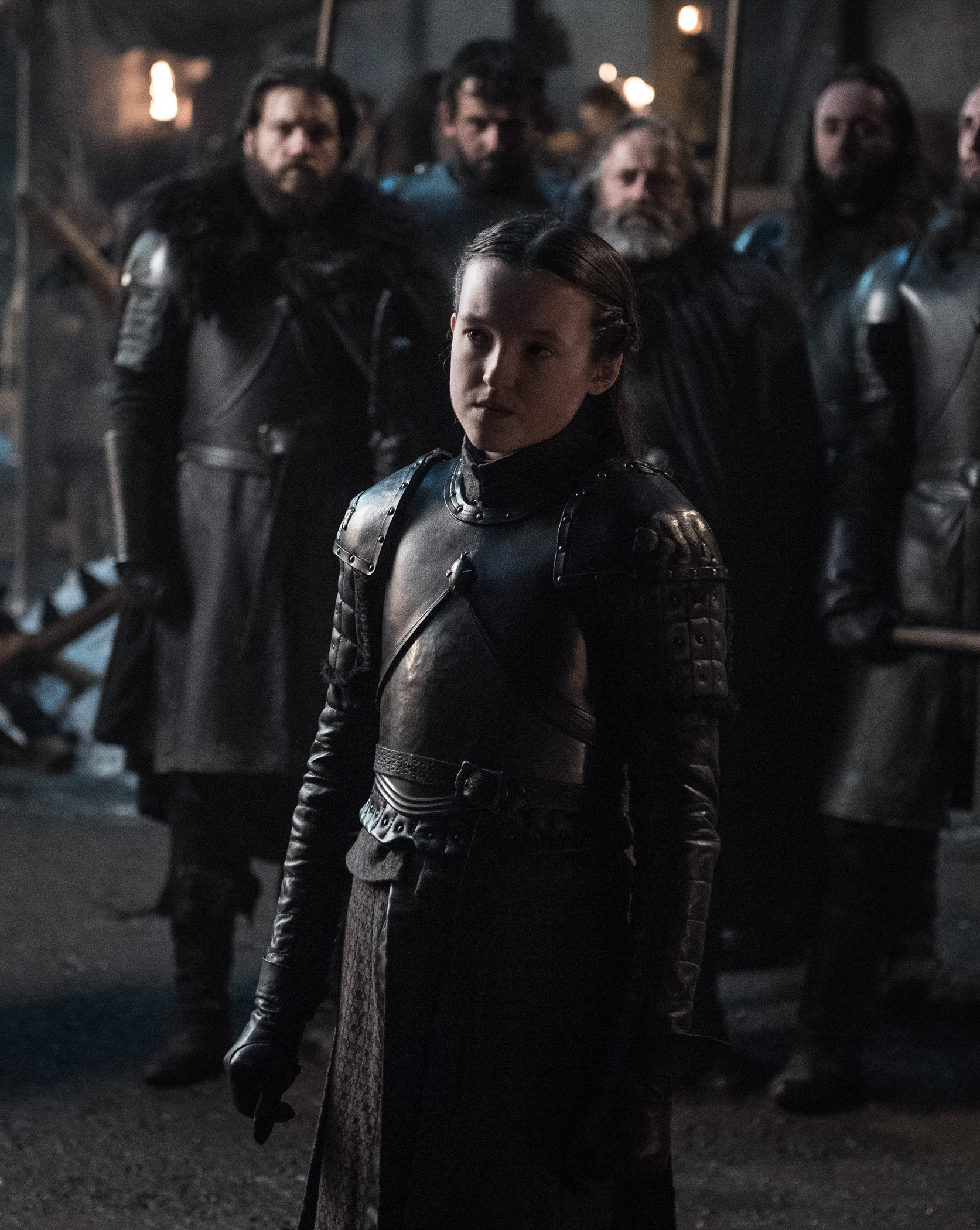 Bella Ramsey as Lyanna Mormont.
