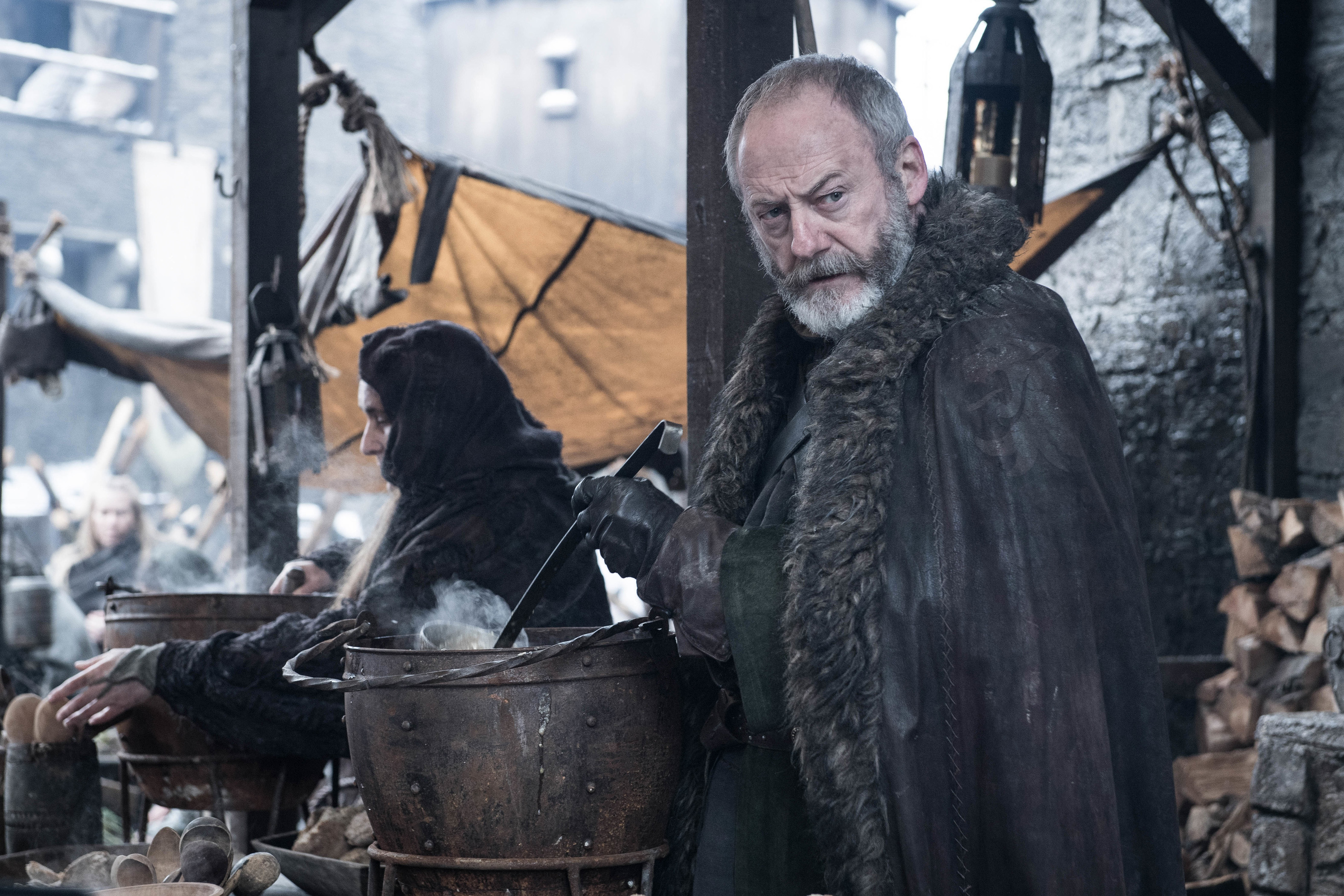 Liam Cunningham as Davos Seaworth.