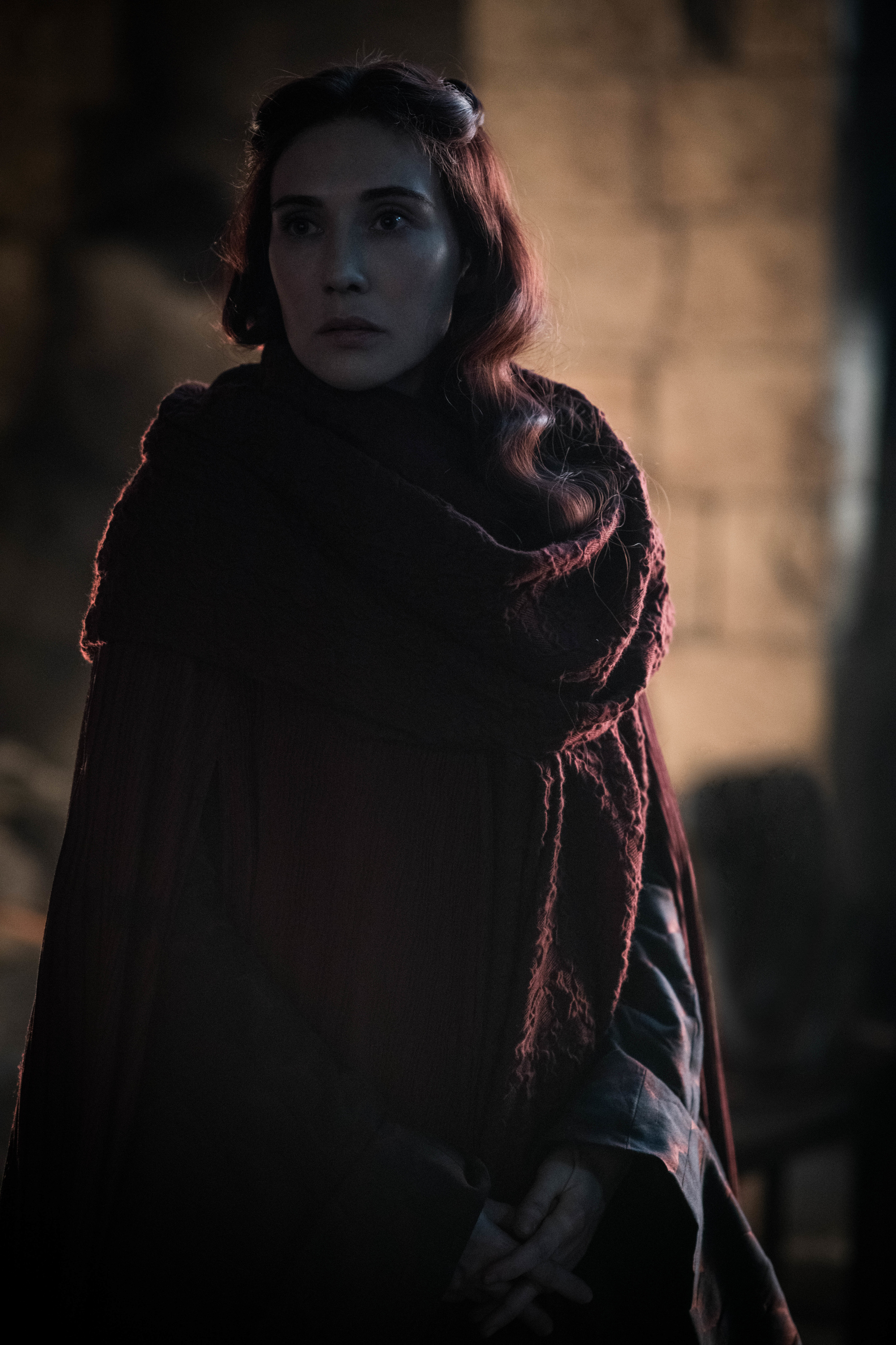 Melisandre makes a surprising return on Game of Thrones season 8 episode 3 before the Battle of Winterfell.