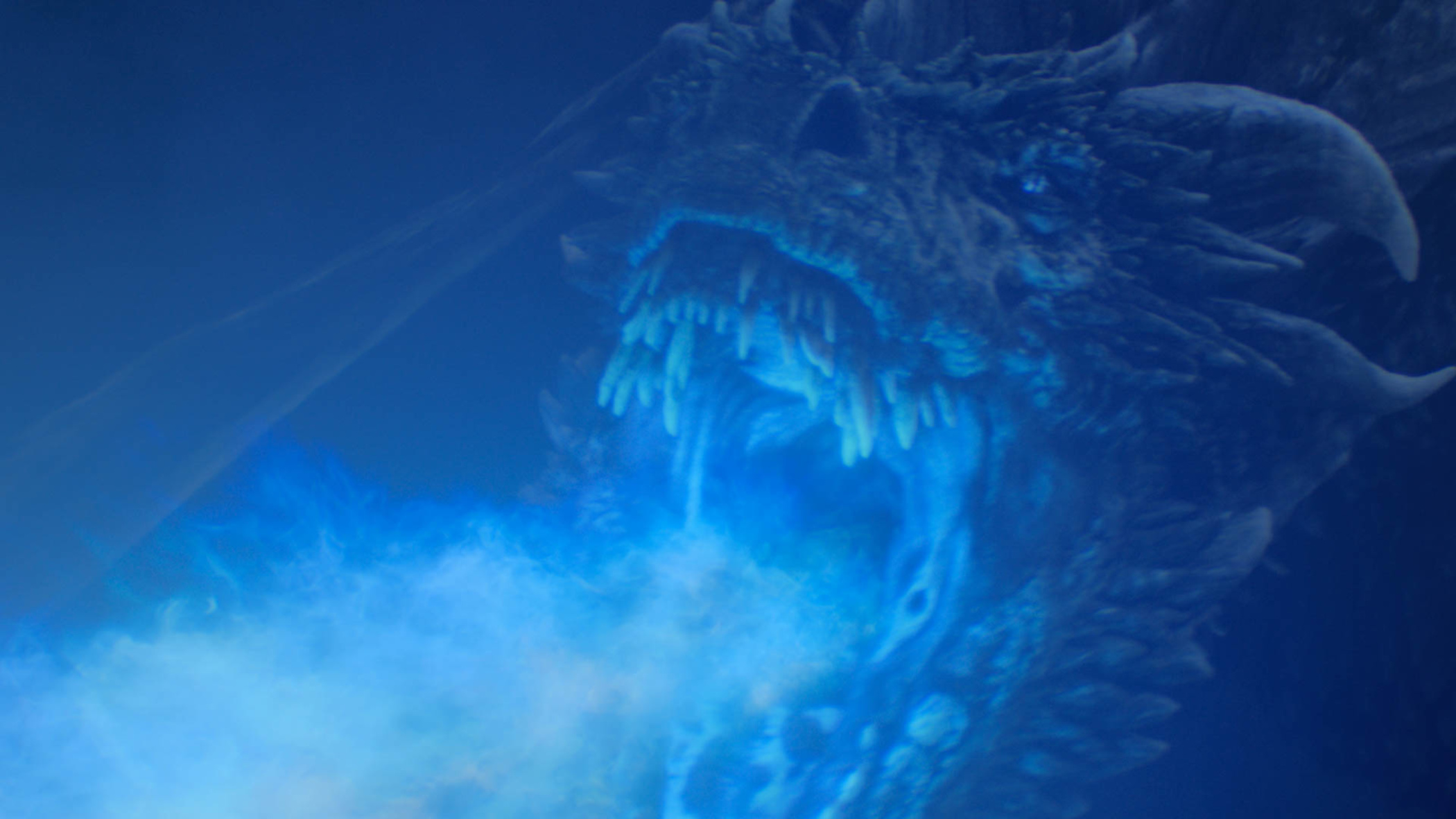 Viserion fights the living dragons in the Battle of Winterfell on Game of Thrones season 8 episode 3