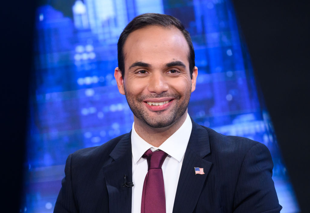 George Papadopoulos visits  The Story With Martha MacCallum  at Fox News Studios on March 26, 2019 in New York City.
