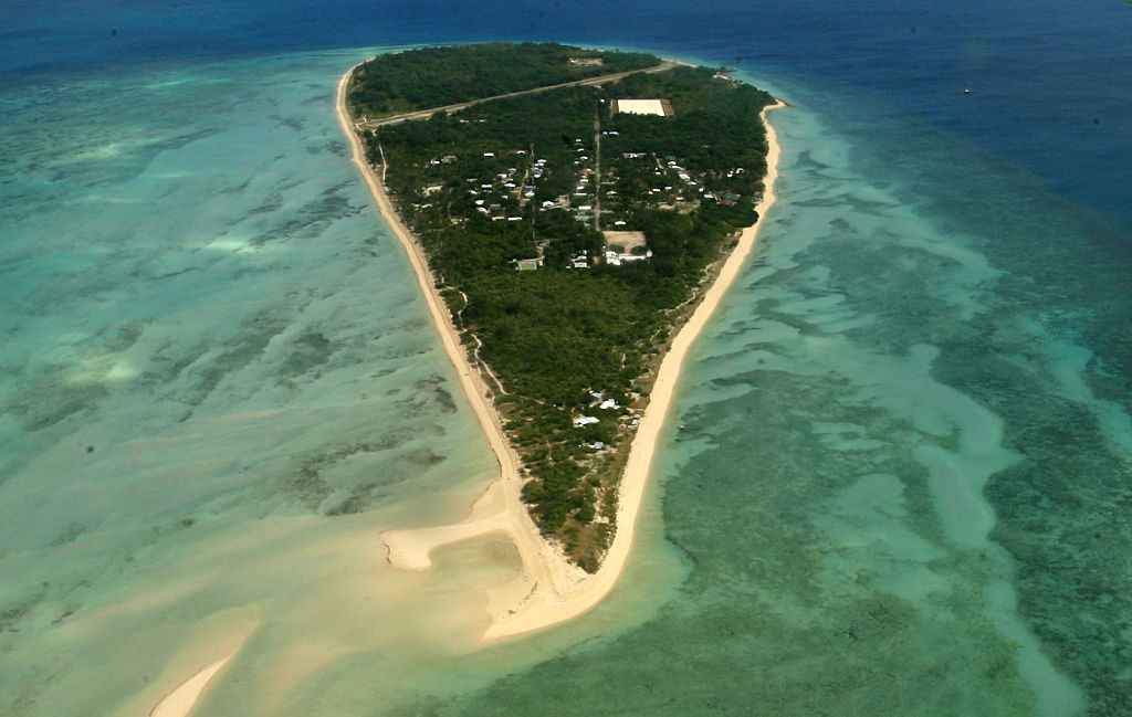 Masig Island in the Torres Strait. King tides and strong winds have caused flooding on several islands in the Torres Strait generating concerns about climate change and rising sea levels.