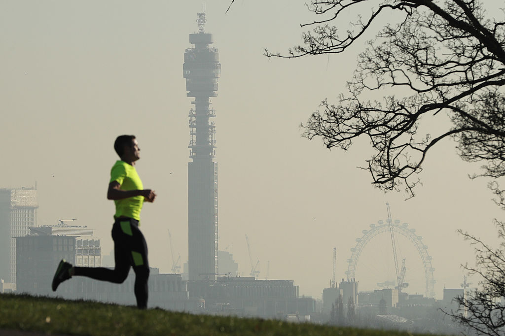 A view of the London skyline from Primrose Hill on January 24, 2017 in London, England.