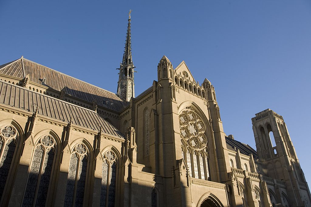 Grace Cathedral is located on Nob Hill in San Francisco, 2009