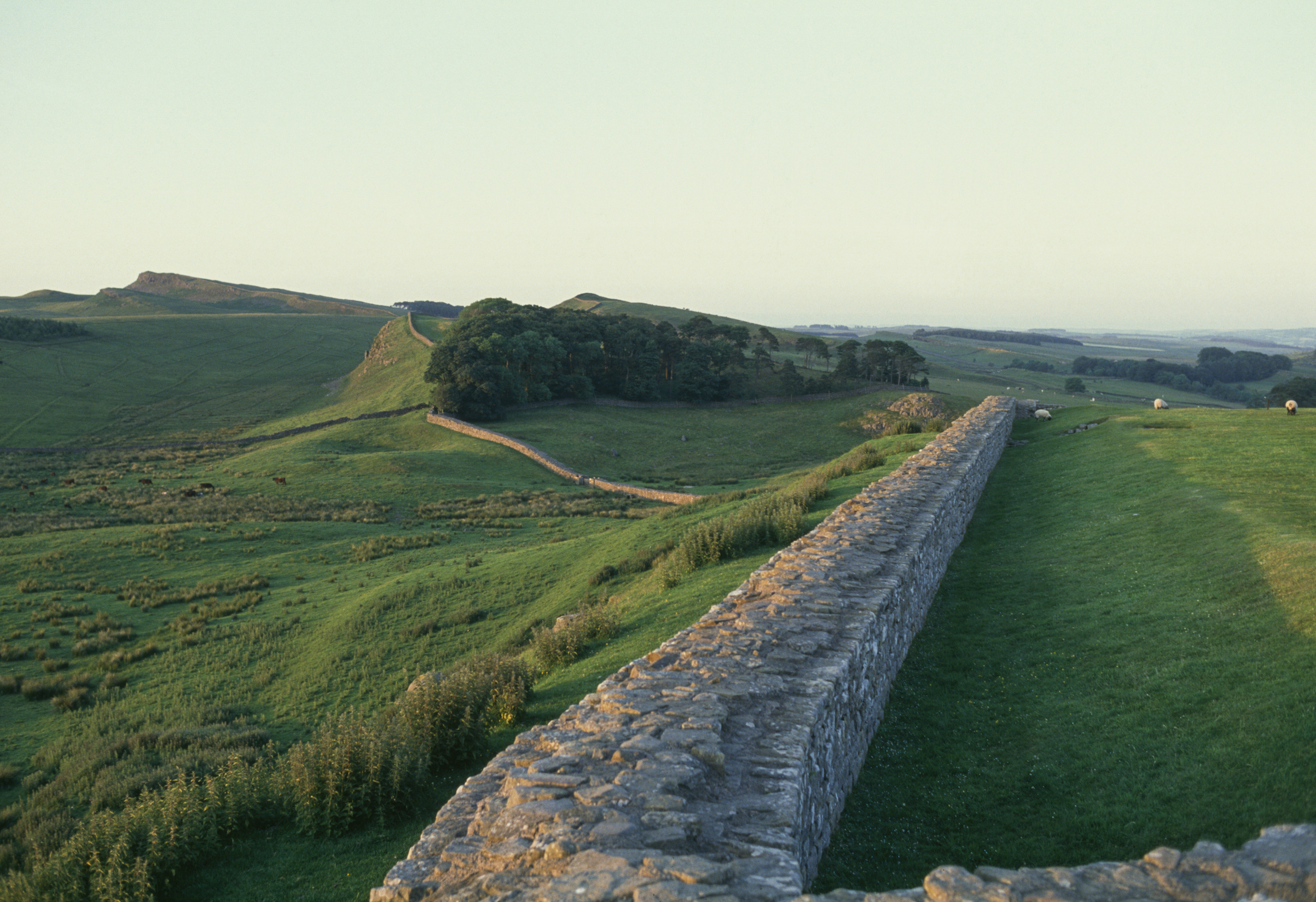 Hadrian's Wall (UNESCO World Heritage Site, 1987), seen near Housesteads, U.K.
