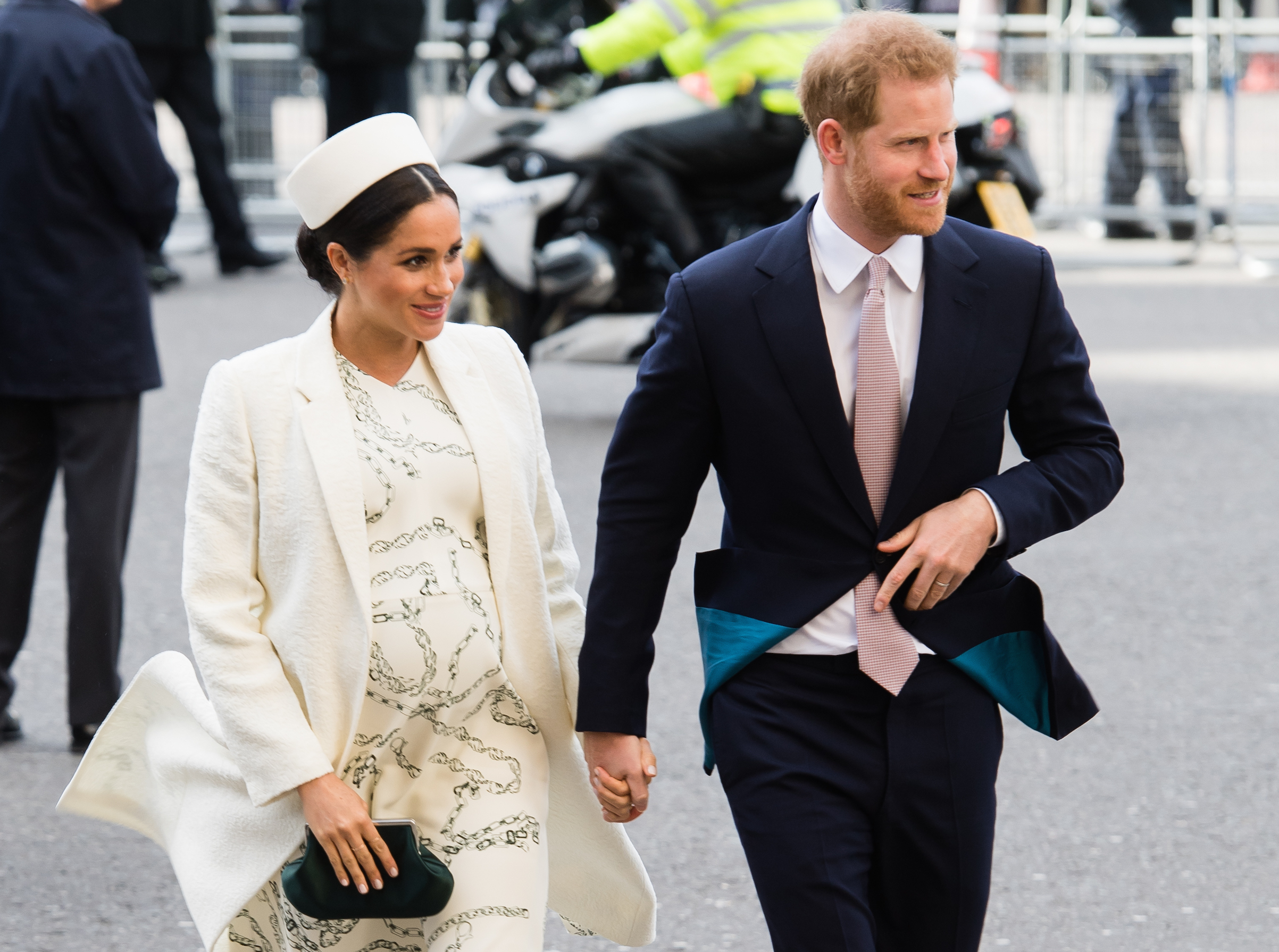 Prince Harry, Duke of Sussex and Meghan, Duchess of Sussex attend the Commonwealth Day service at Westminster Abbey on March 11, 2019 in London.