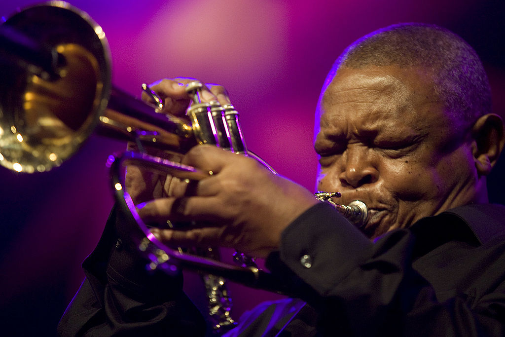 Hugh Masekela performs on stage at The Hague Jazz  in The Hague, Netherlands on May 23rd, 2009.