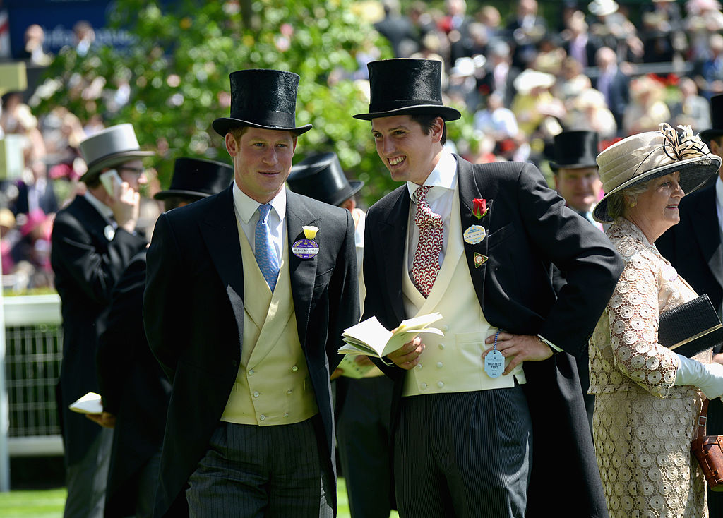 Prince Harry and Jake Warren attend day one of Royal Ascot at Ascot Racecourse on June 17, 2014 in Ascot, England.