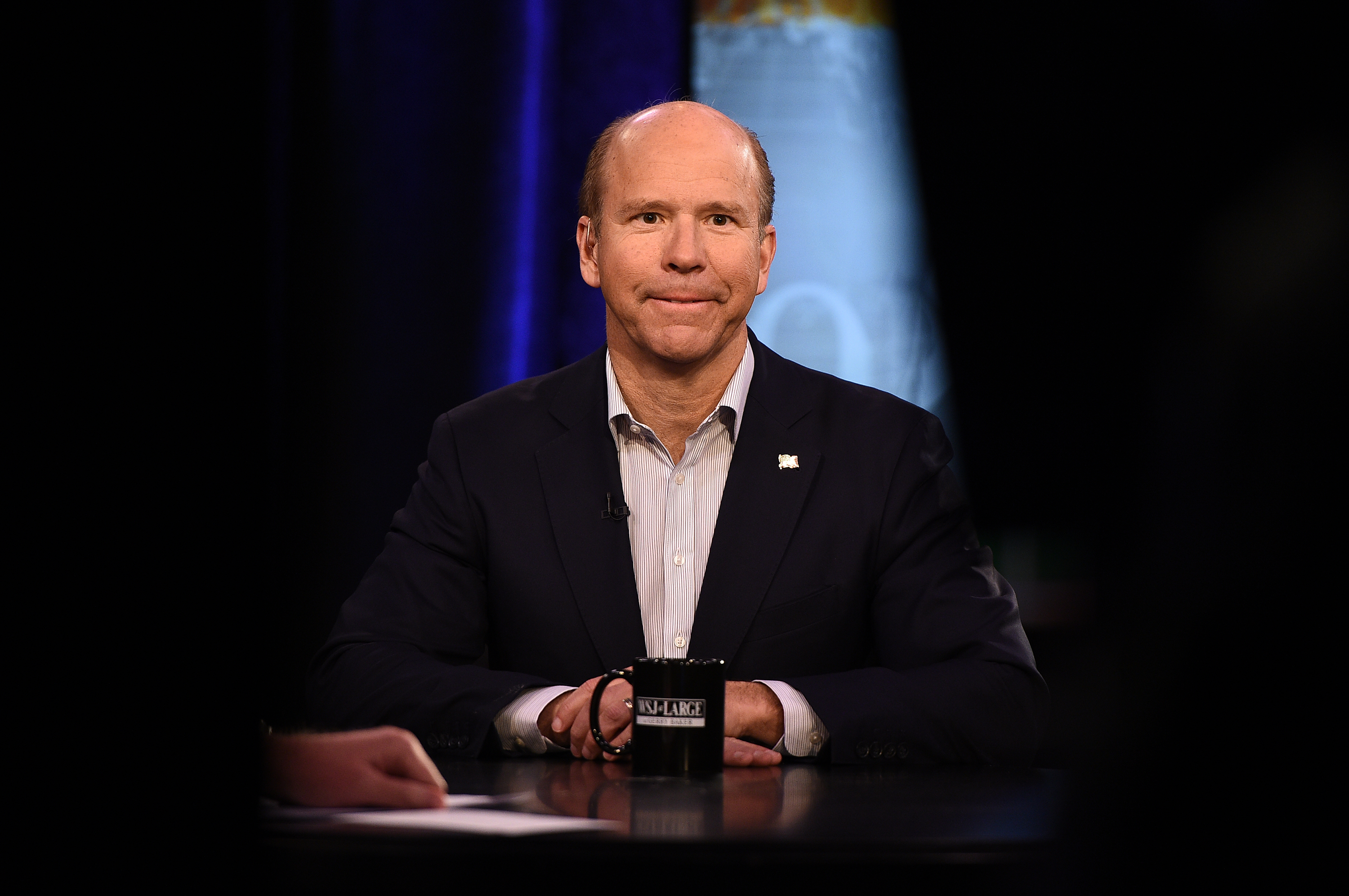 Presidential candidate John Delaney attends a taping of  WSJ At Large with Gerry Baker  (which will air Friday, March 29th) at Fox Business Network Studios on March 27, 2019 in New York City.