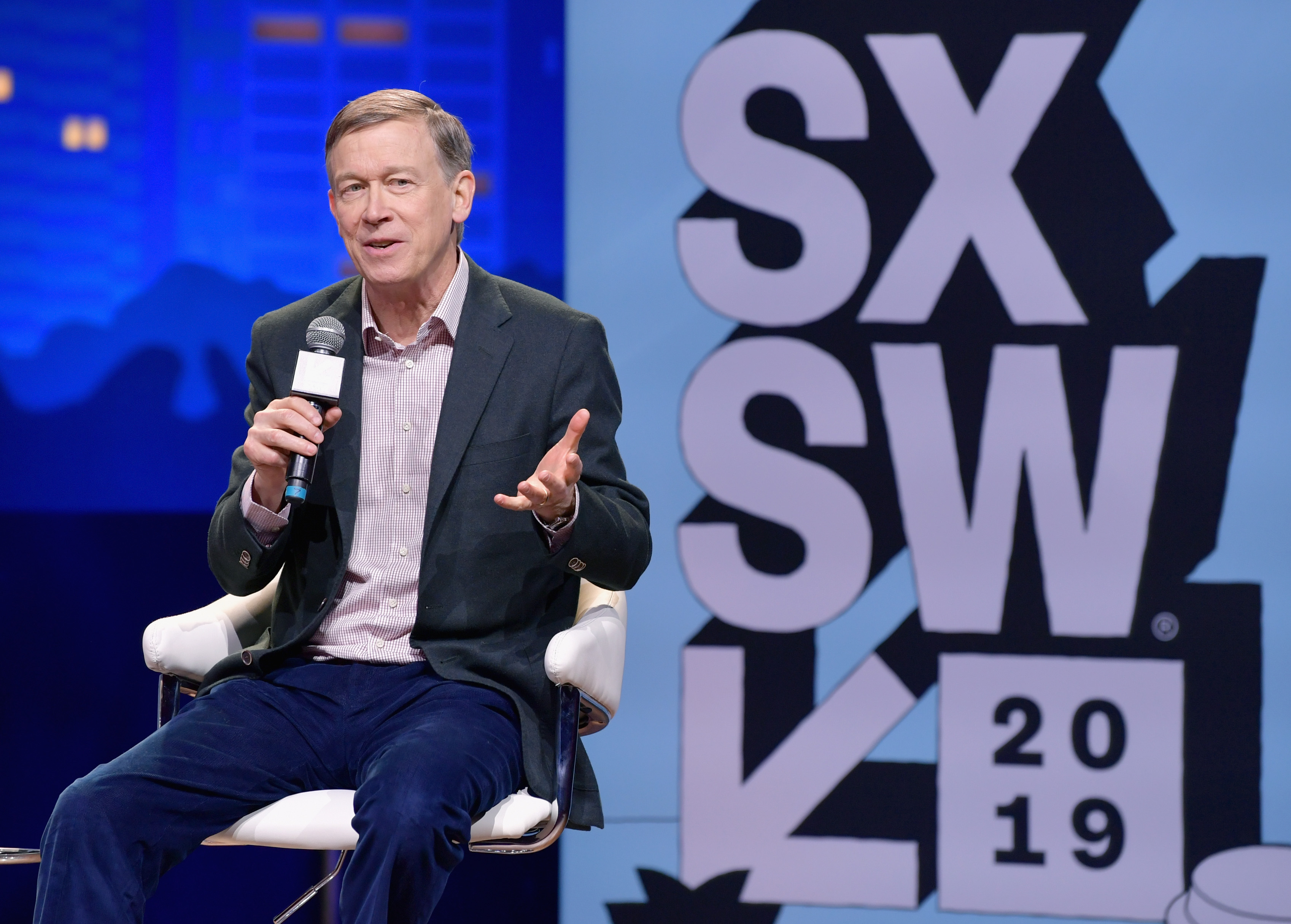 John Hickenlooper speaks onstage at Conversations About America's Future: Former Governor John Hickenlooper during the 2019 SXSW Conference and Festivals at Austin City Limits Live at the Moody Theater on March 10, 2019 in Austin, Texas.