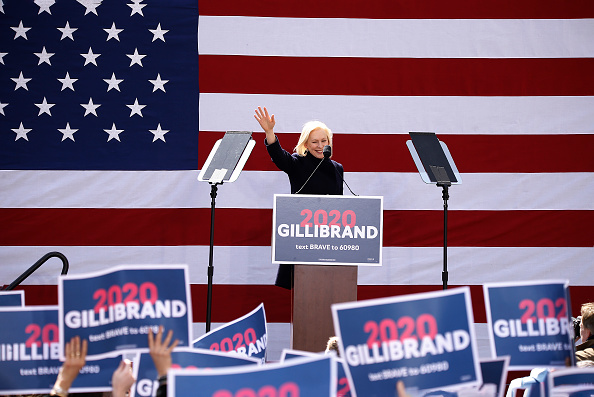 Sen. Kirsten Gillibrand speaks during the kickoff rally on March 24, 2019 in New York City.