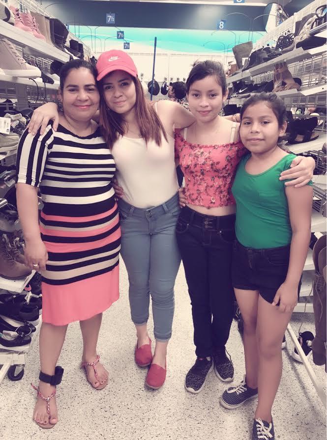 Laura Maradiaga-Alvarado (far right) and her family