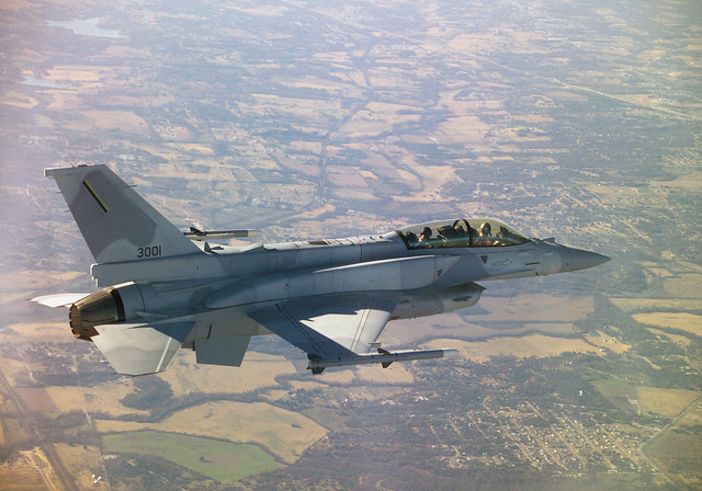 Lockheed Martin's F-16V fighter jet.