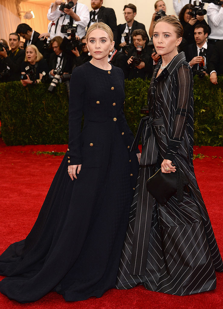 Ashley Olsen and Mary-Kate Olsen attend the  Charles James: Beyond Fashion  Costume Institute Gala at the Metropolitan Museum of Art on May 5, 2014 in New York City.