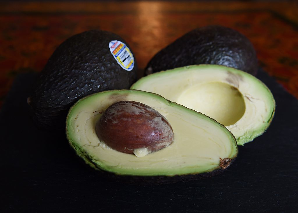 Hass avocados in Los Angeles, California on January 22, 2015.  The avocado has become the United States new favorite fruit with more than 4.25 billion sold last year. The Hass variety make up 95% of all avocados eaten in the United States and 85% of avocados are imported, mainly from Mexico.