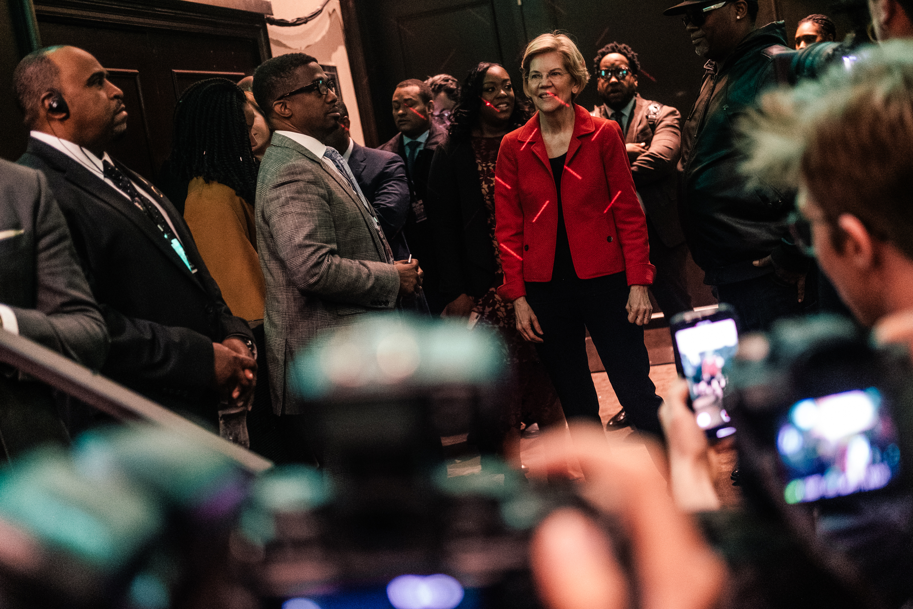 Elizabeth Warren, Massachusetts Senator, at the annual National Action Network Convention or NAN in the Sheraton Hotel in New York City on April 5, 2019.