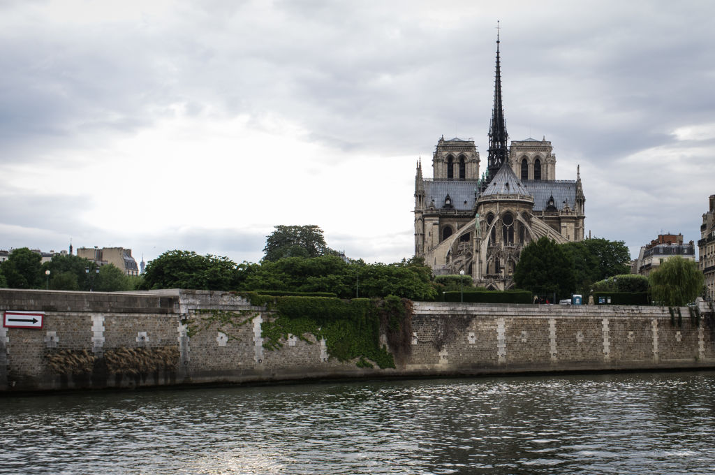 Notre Dame cathedral in Paris, before the fire of the afternoon of 15 April 2019 in Paris, France.