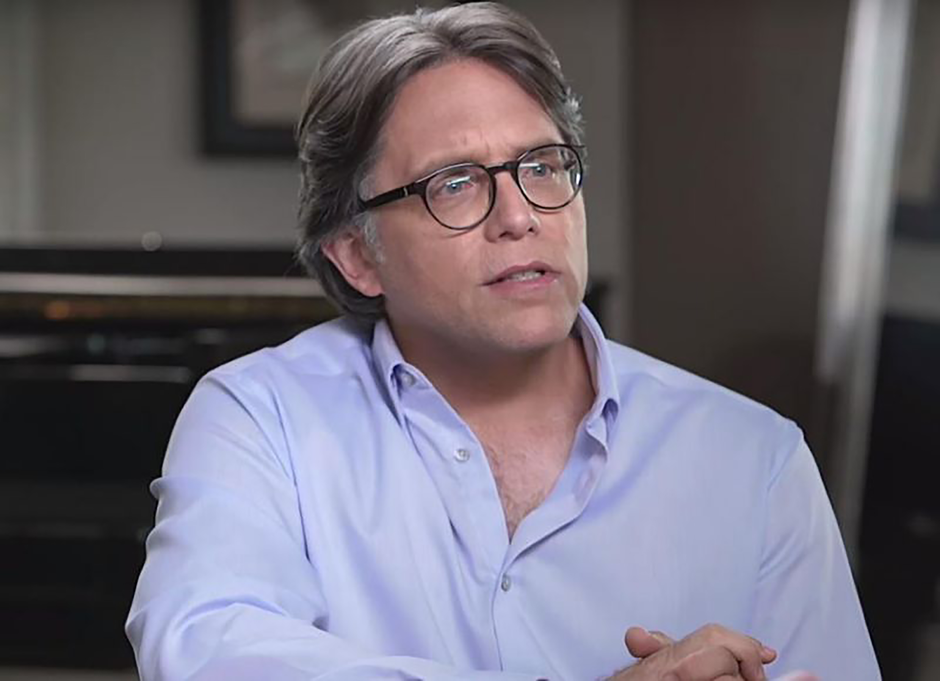 Keith Raniere appears in a YouTube video dated January 26, 2017. The founder of NXIVM has been arrested on charges of sex trafficking.